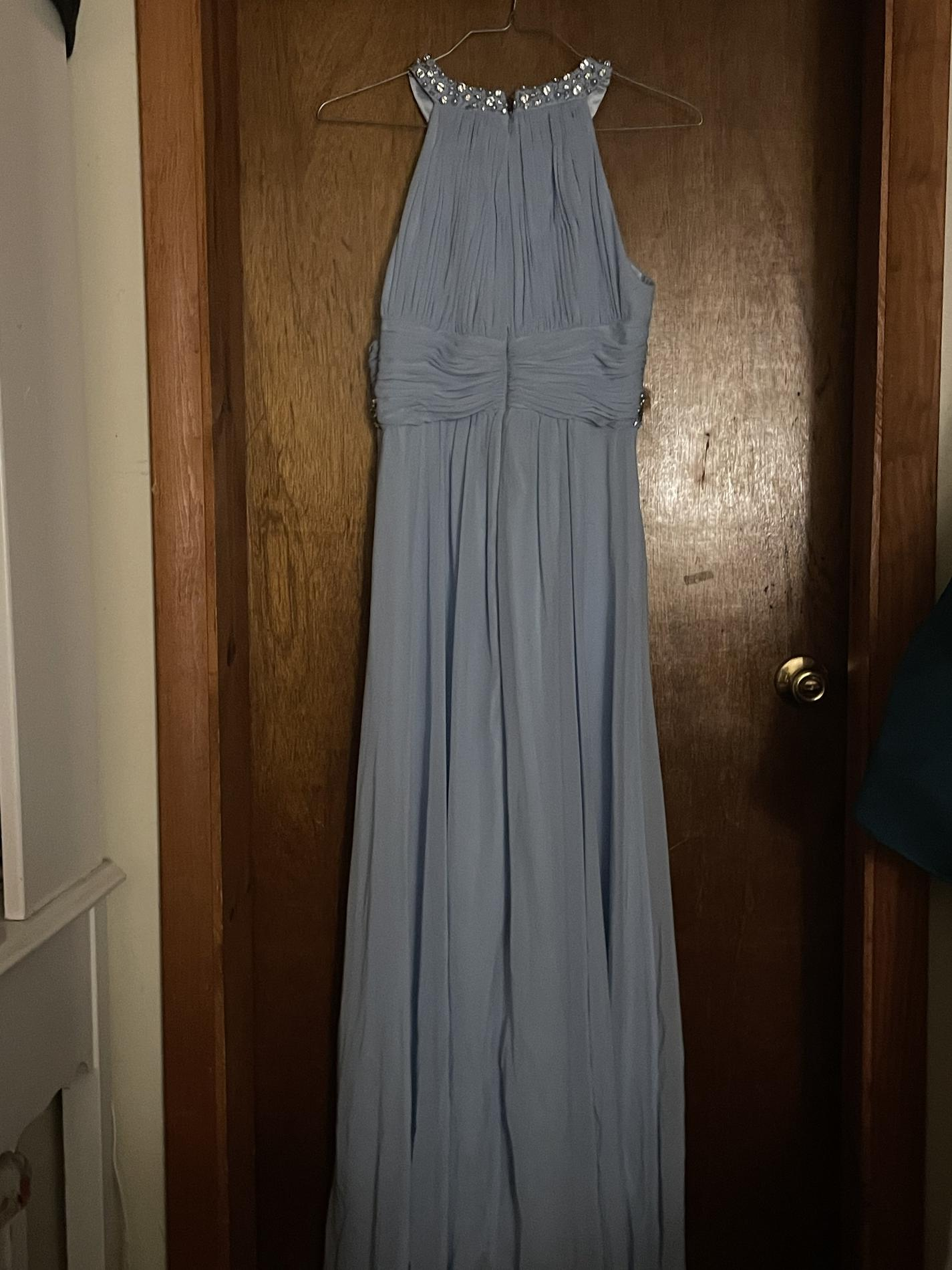 Blue Size 8 Ball gown on Queenly