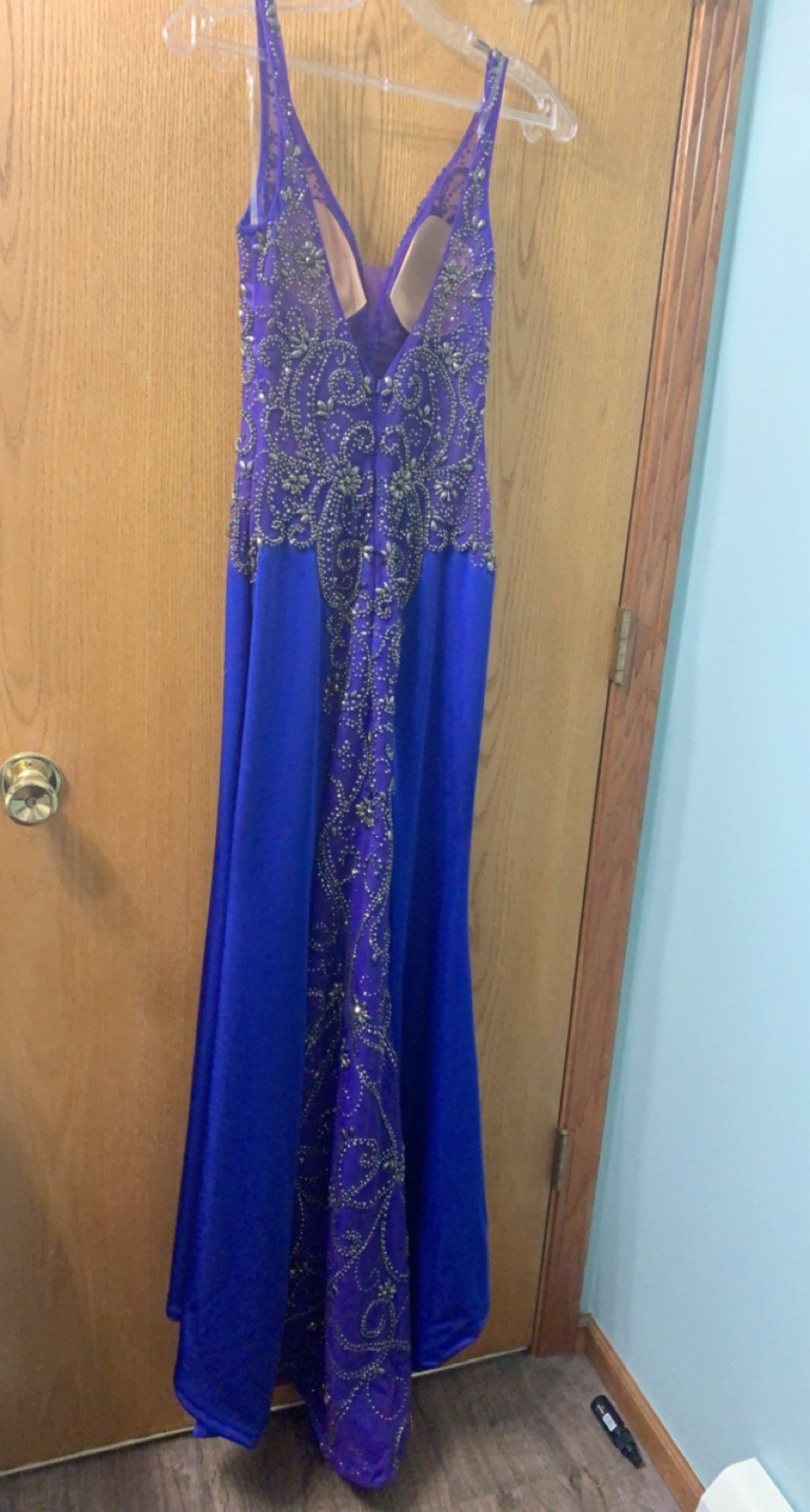 Mori Lee Blue Size 2 Prom Pageant Straight Dress on Queenly