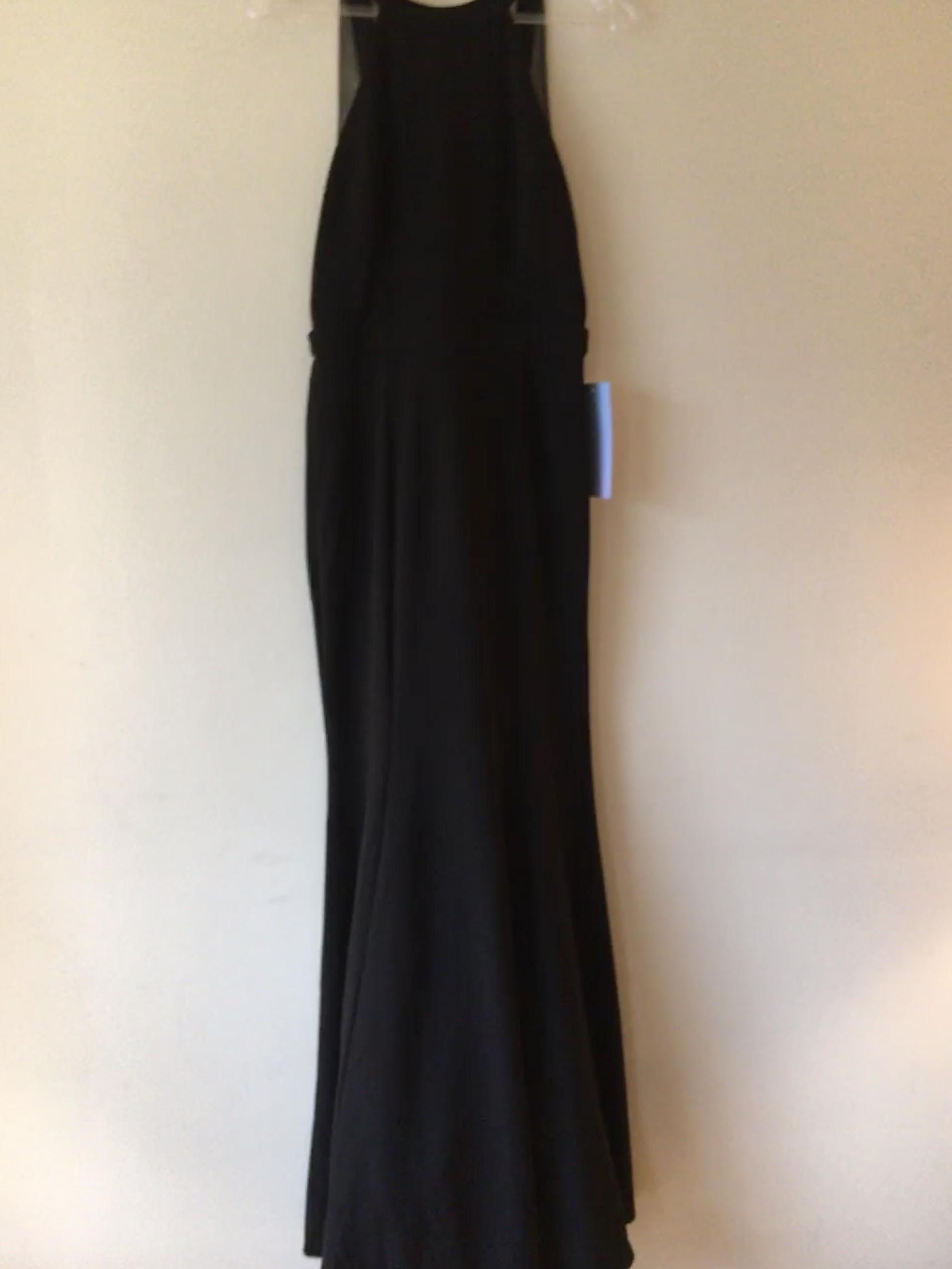 Prom Girl Black Size 4 Prom Backless Lace A-line Dress on Queenly
