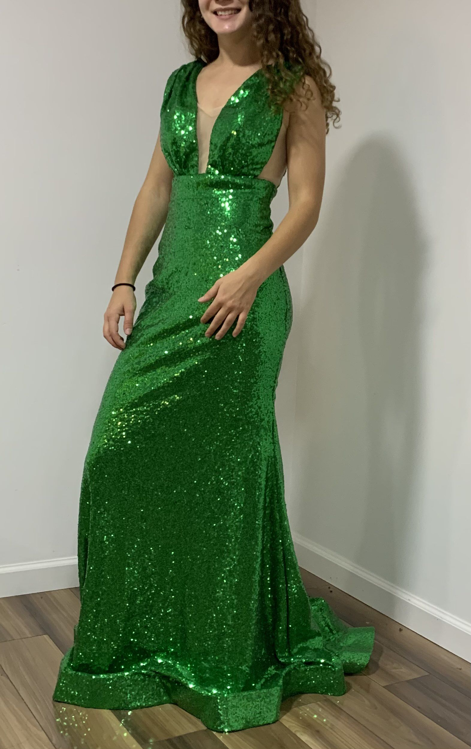 Green Size 2 Mermaid Dress on Queenly