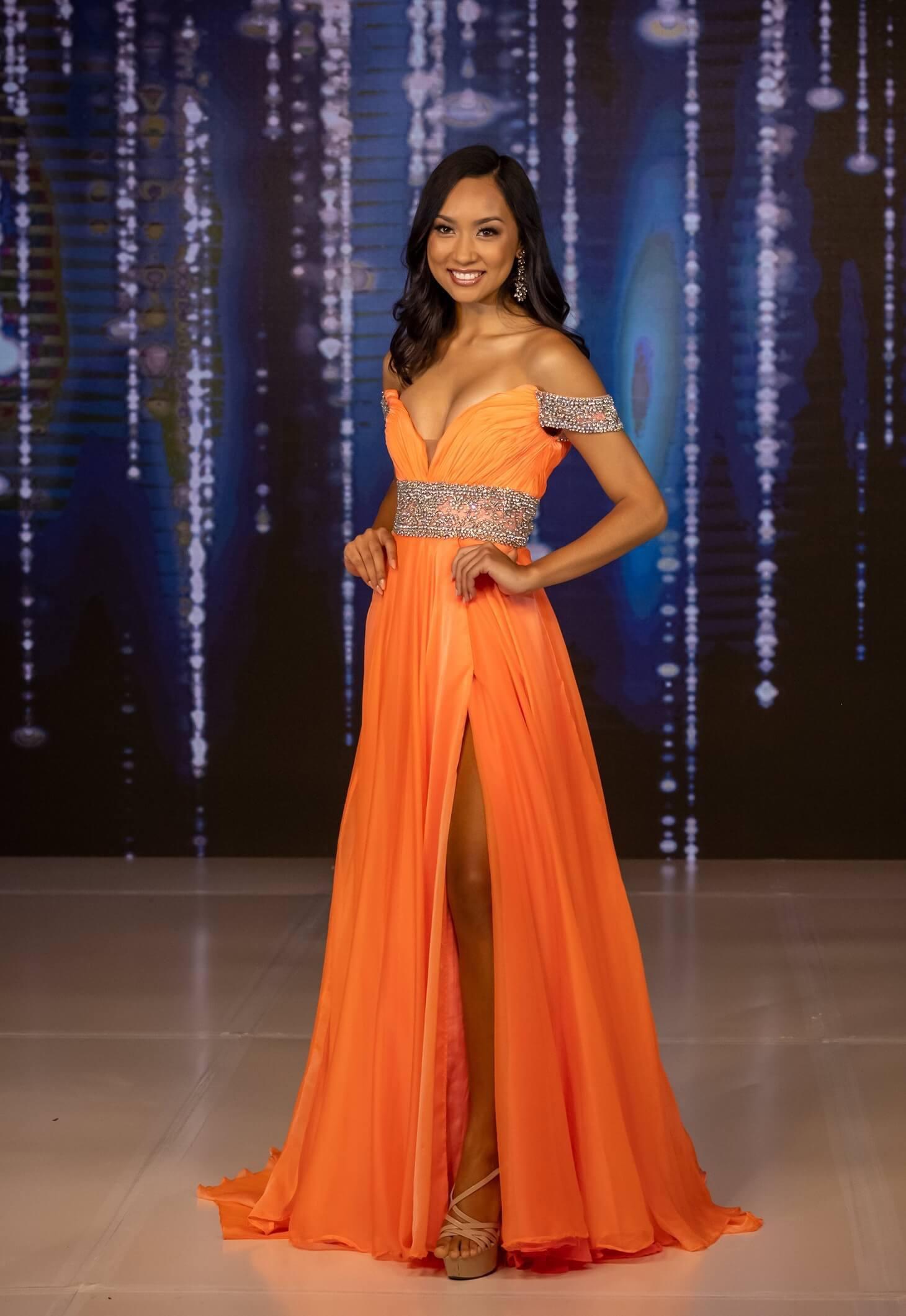 Rachel Allan Orange Size 2 Pageant Side slit Dress on Queenly