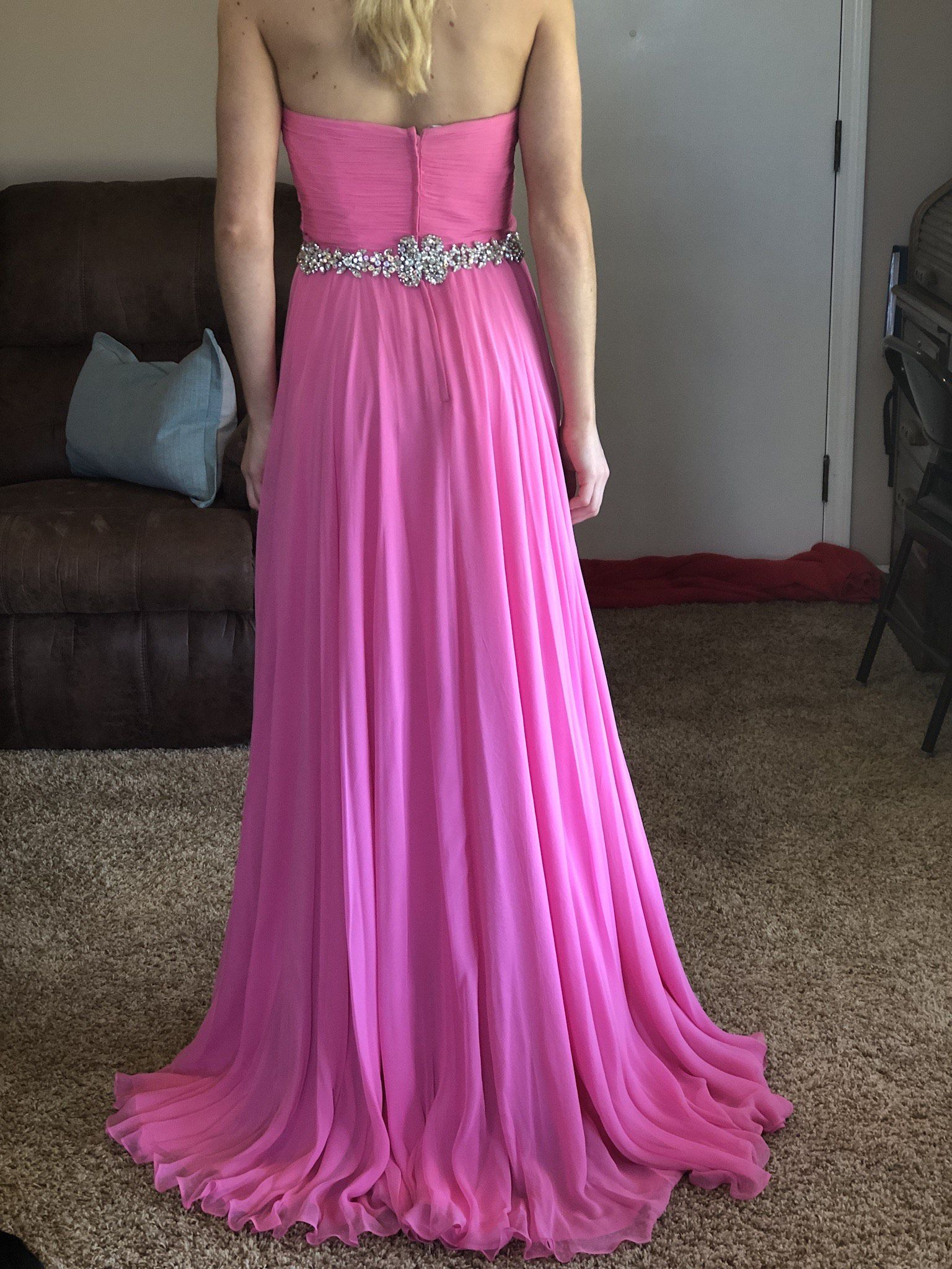 Pink Size 00 A-line Dress on Queenly