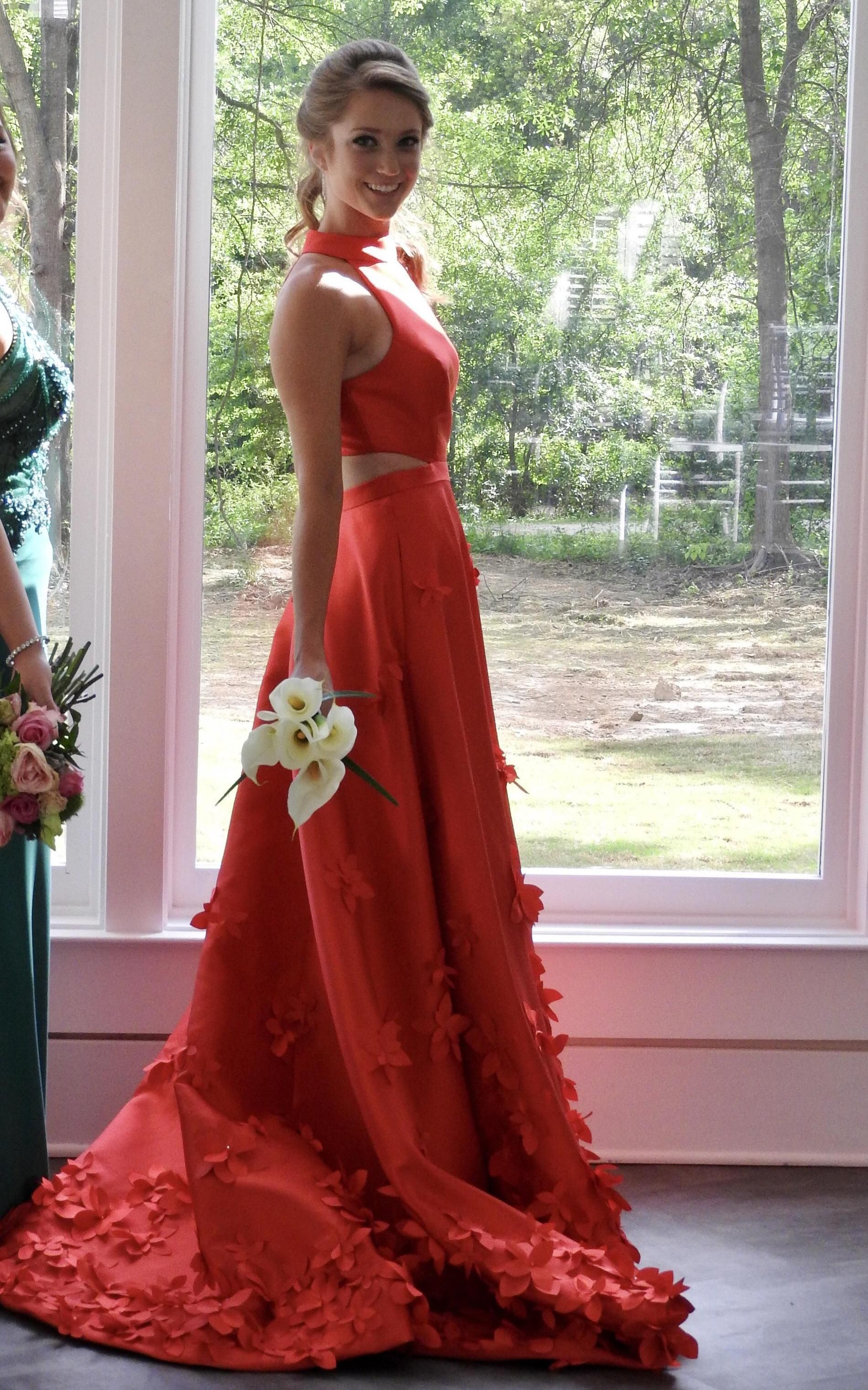 Red Size 0 A-line Dress on Queenly