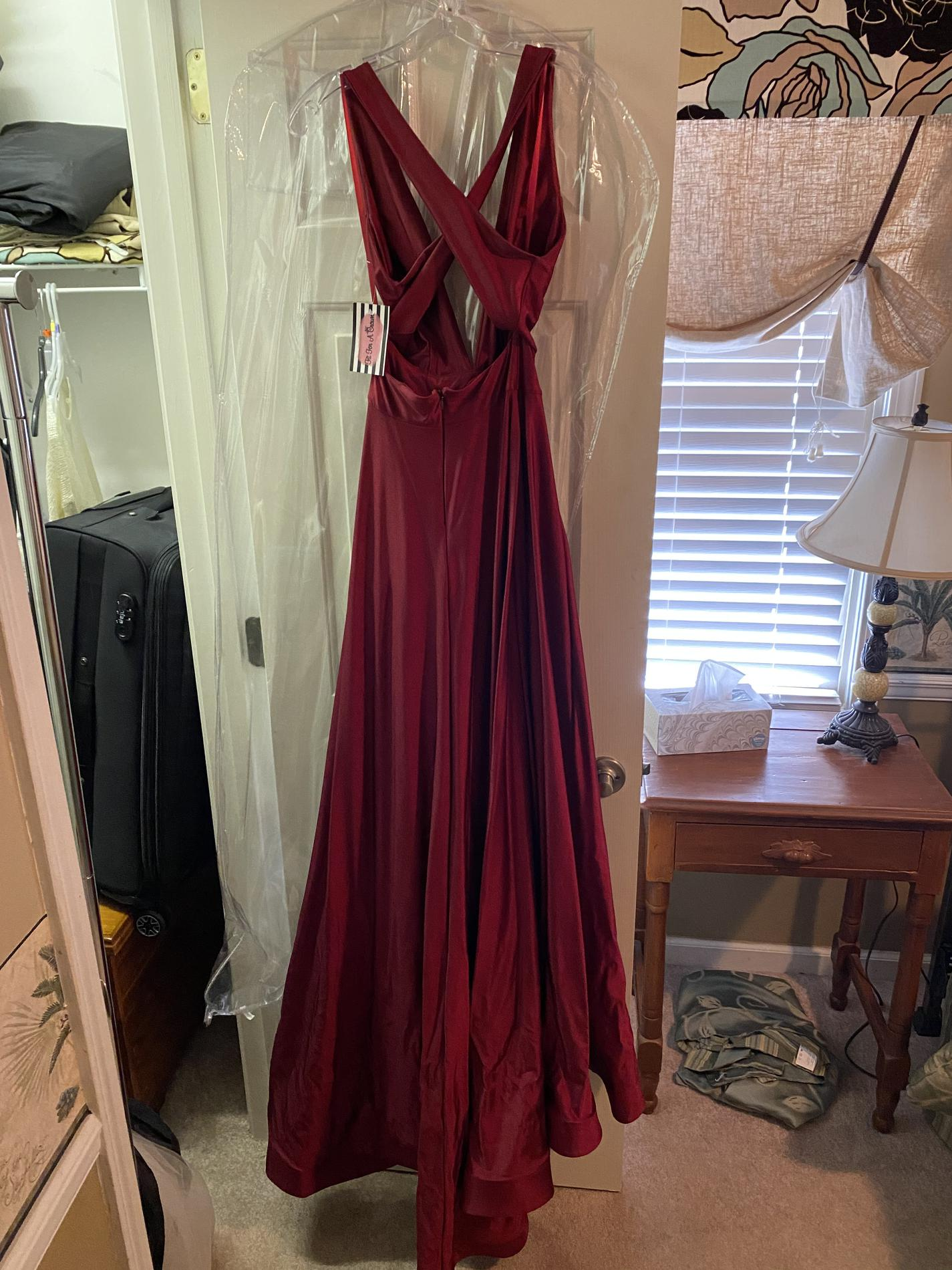 Jessica Angel Red Size 0 Halter Train Tall Height A-line Dress on Queenly