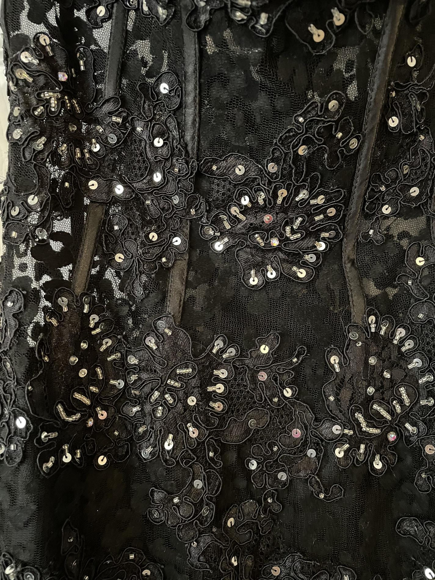 Jasz Couture Black Size 00 Sequin Prom Jewelled Sweetheart Mermaid Dress on Queenly