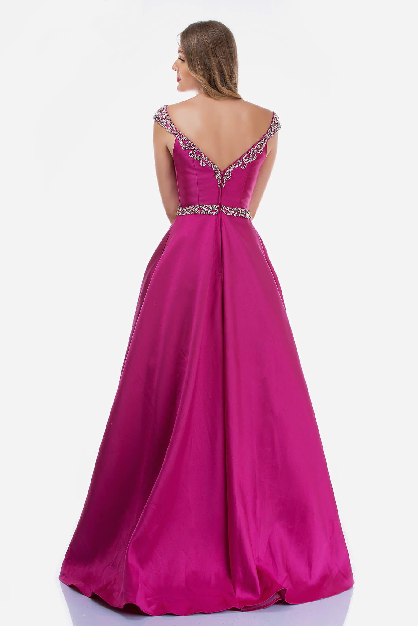 Style 2265 Nina Canacci Pink Size 14 Prom Ball gown on Queenly