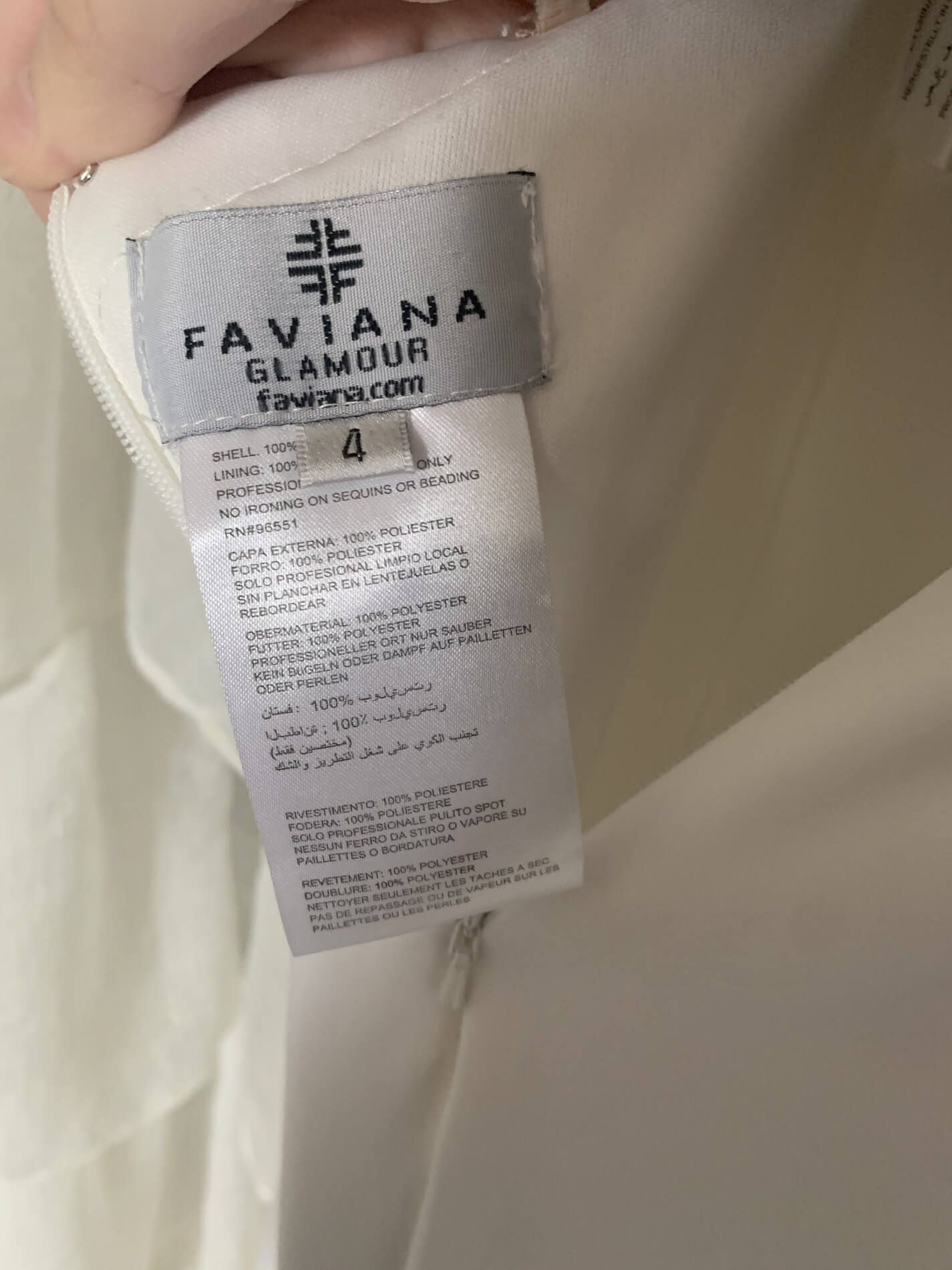 Faviana White Size 4 Prom Backless Corset A-line Dress on Queenly