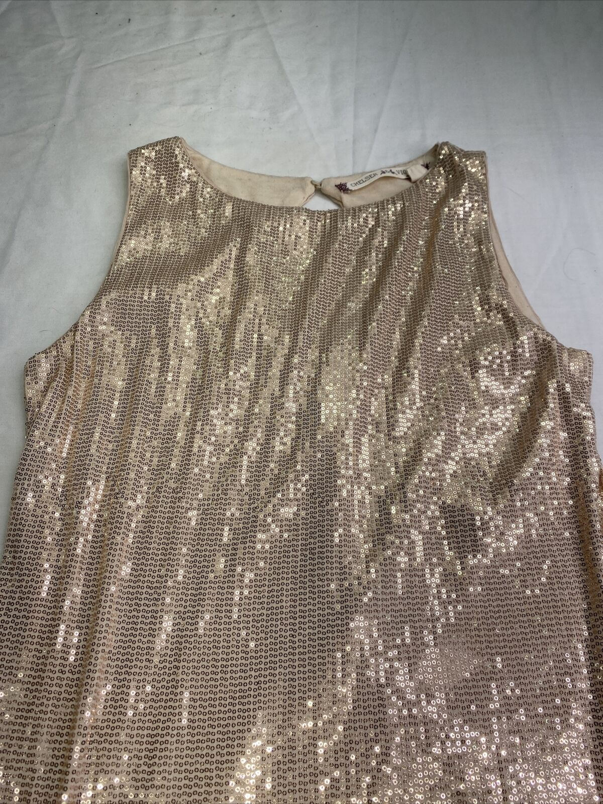 chelsea & Violet Gold Size 0 Sorority Formal Cocktail Dress on Queenly