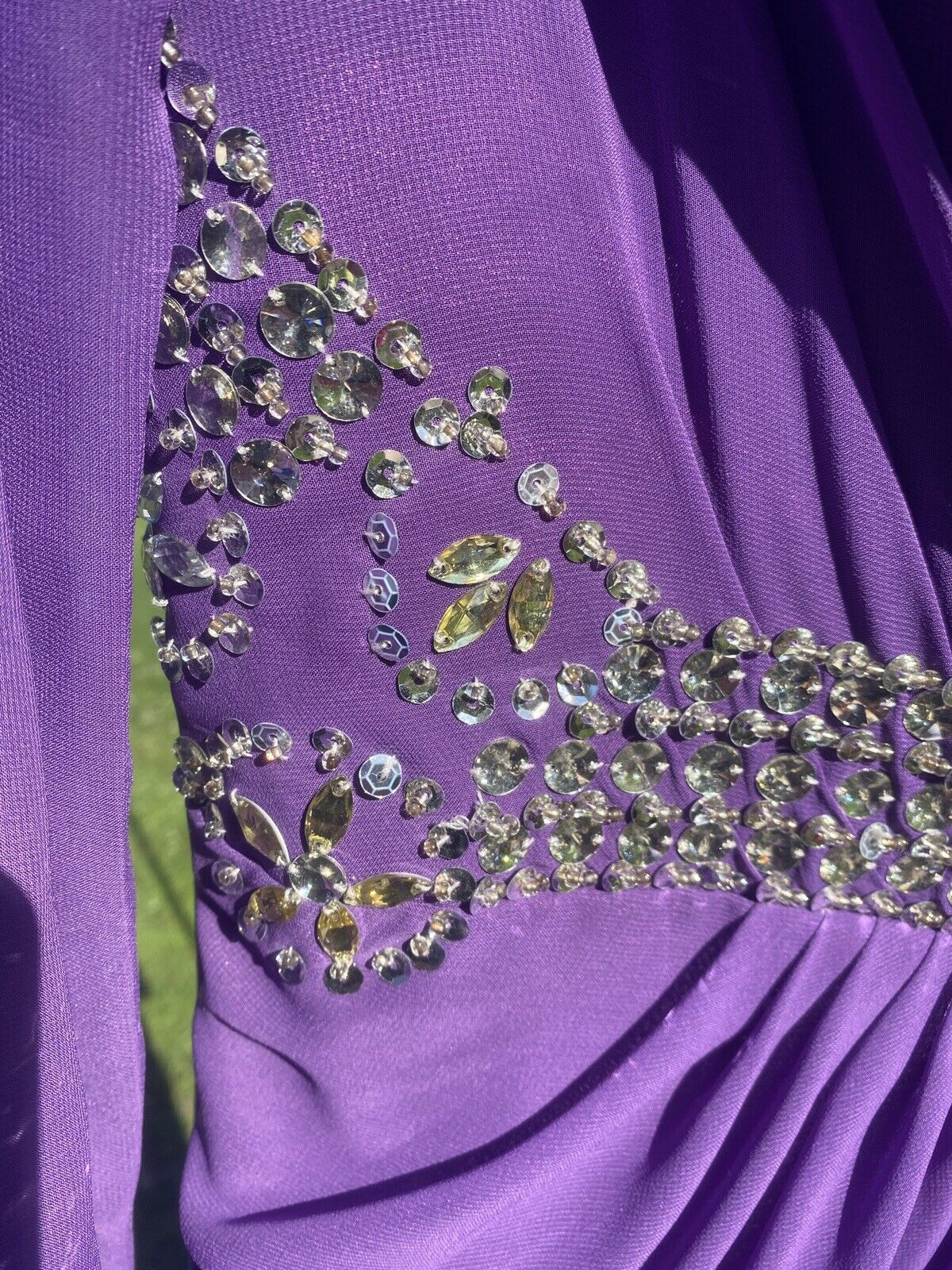 Dressale Purple Size 8 Jewelled Ball gown on Queenly