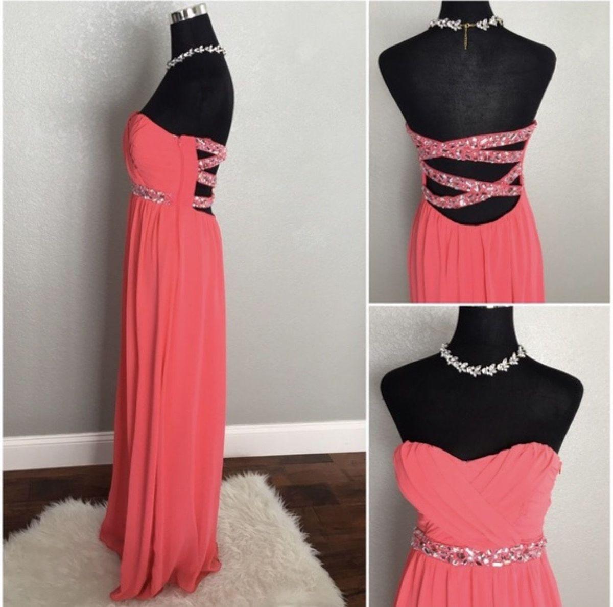 Orange Size 8 Straight Dress on Queenly