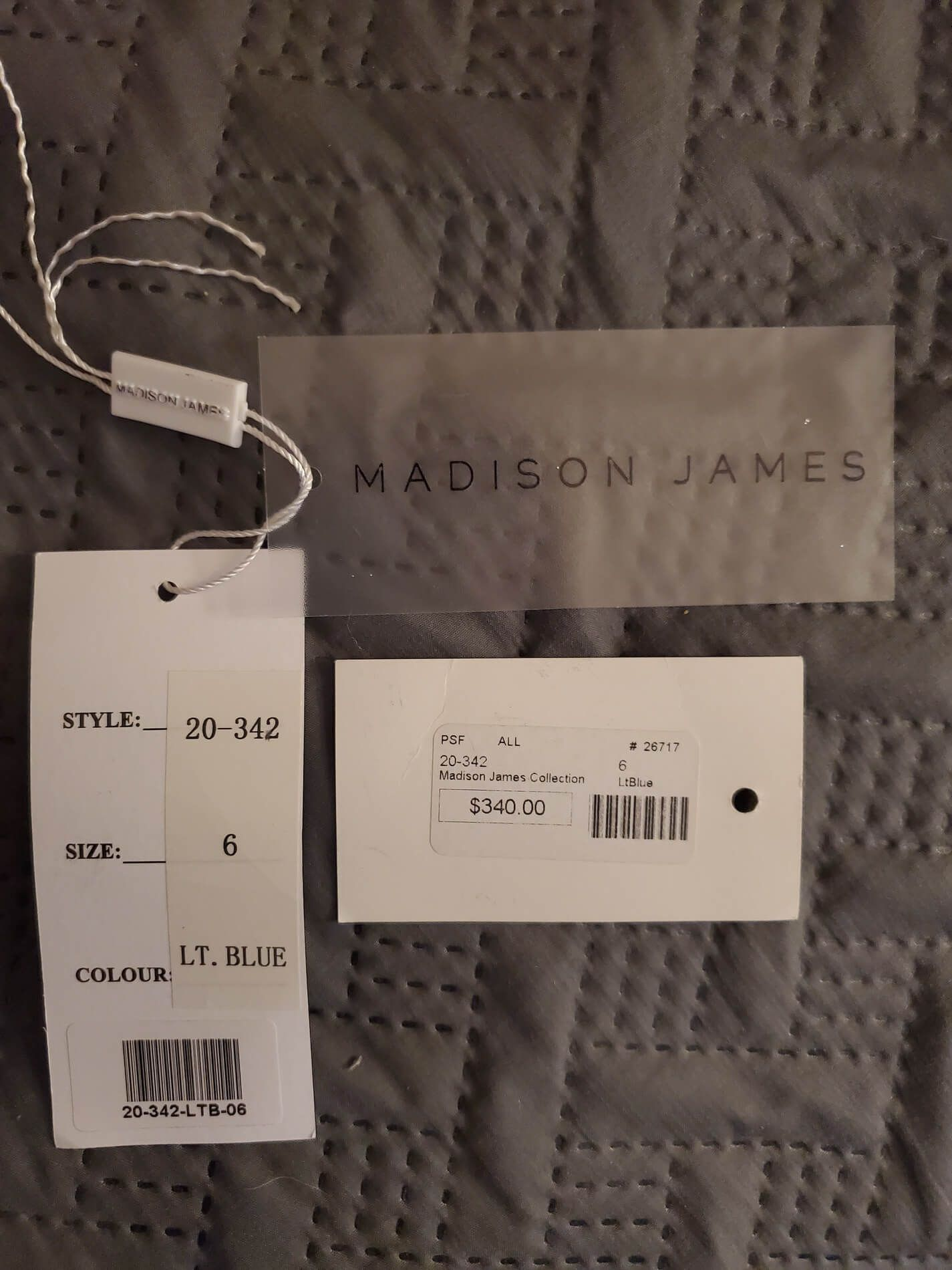 Madison James Blue Size 6 Mini Tall Height Train Dress on Queenly