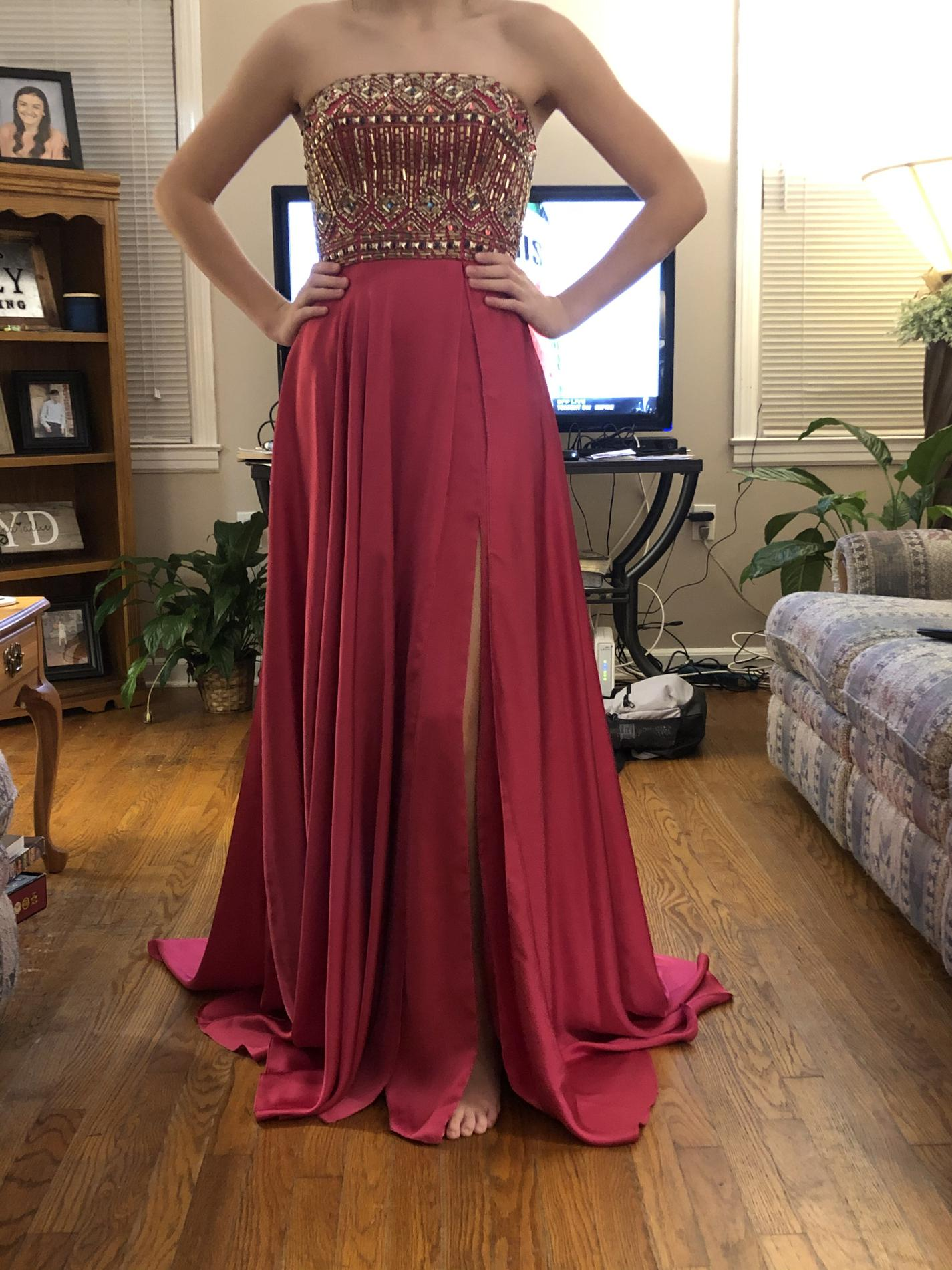 Pink Size 4 Straight Dress on Queenly
