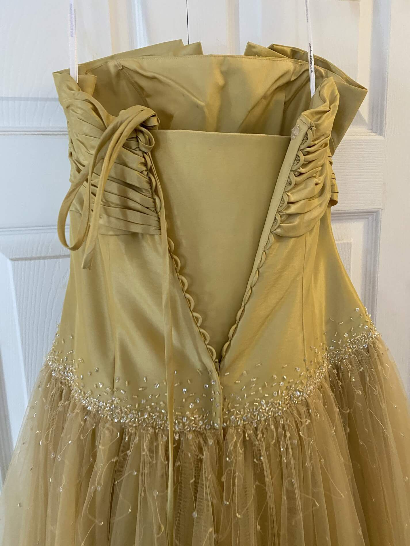 Gold Size 12 Ball gown on Queenly