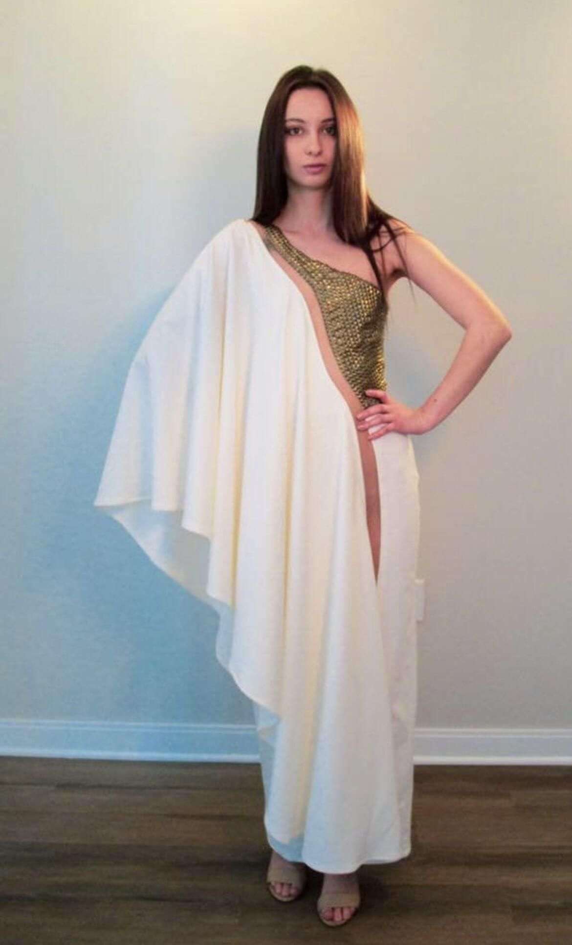 White Size 6 Jumpsuit Dress on Queenly