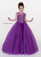 Style 1716 Perfect Angels Purple Size 8 Overskirt Mini Ball gown on Queenly