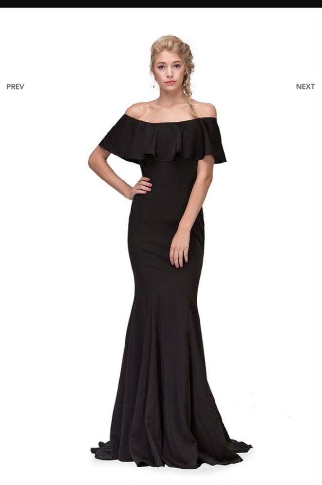 Black Size 12 Mermaid Dress on Queenly