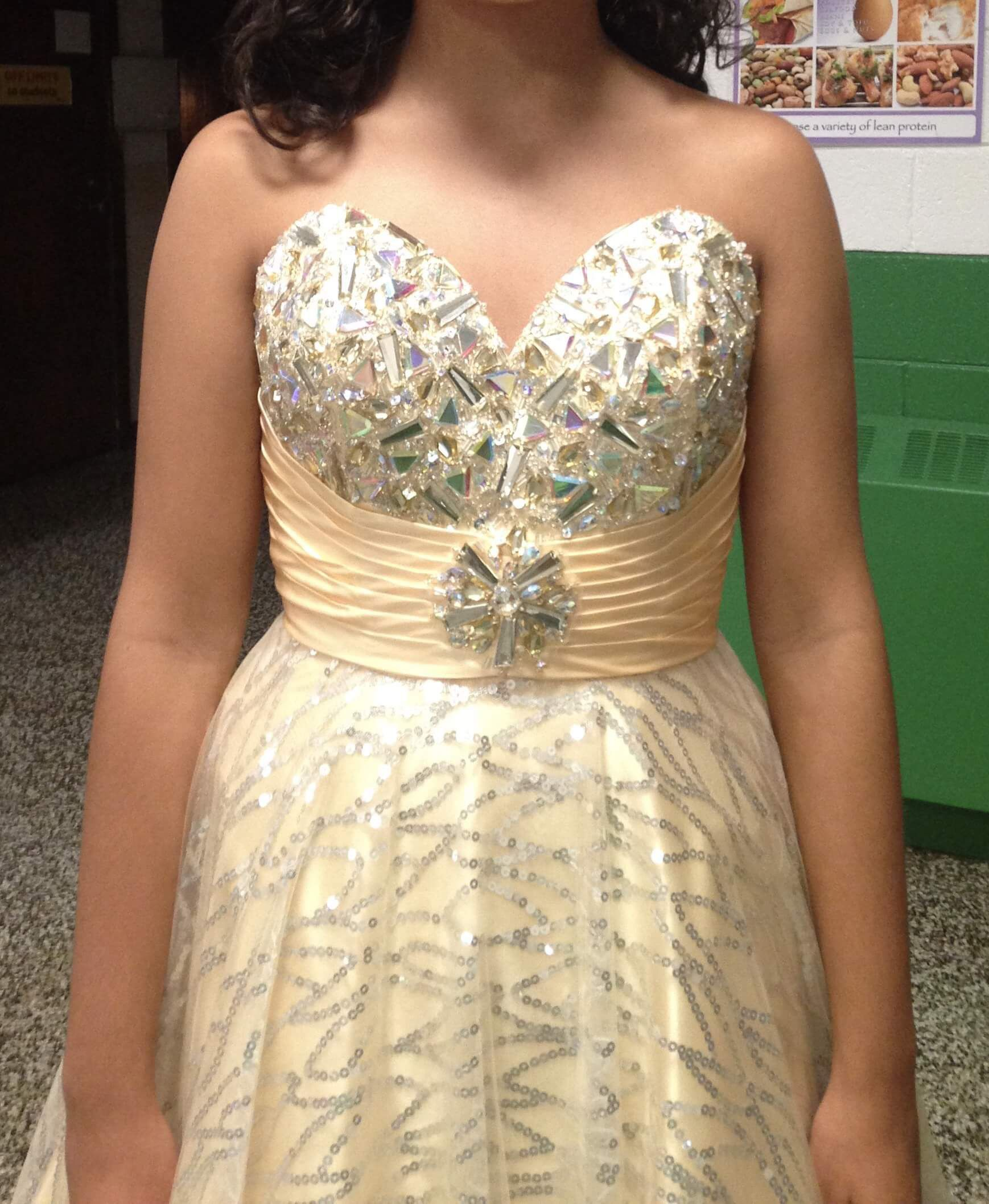 Gold Size 4 A-line Dress on Queenly