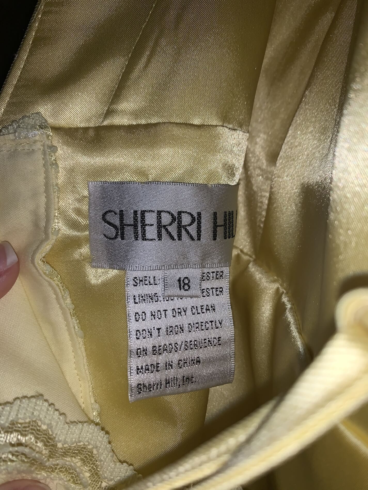Sherri Hill Yellow Size 18 Corset Plus Size Tall Height Fitted Ball gown on Queenly
