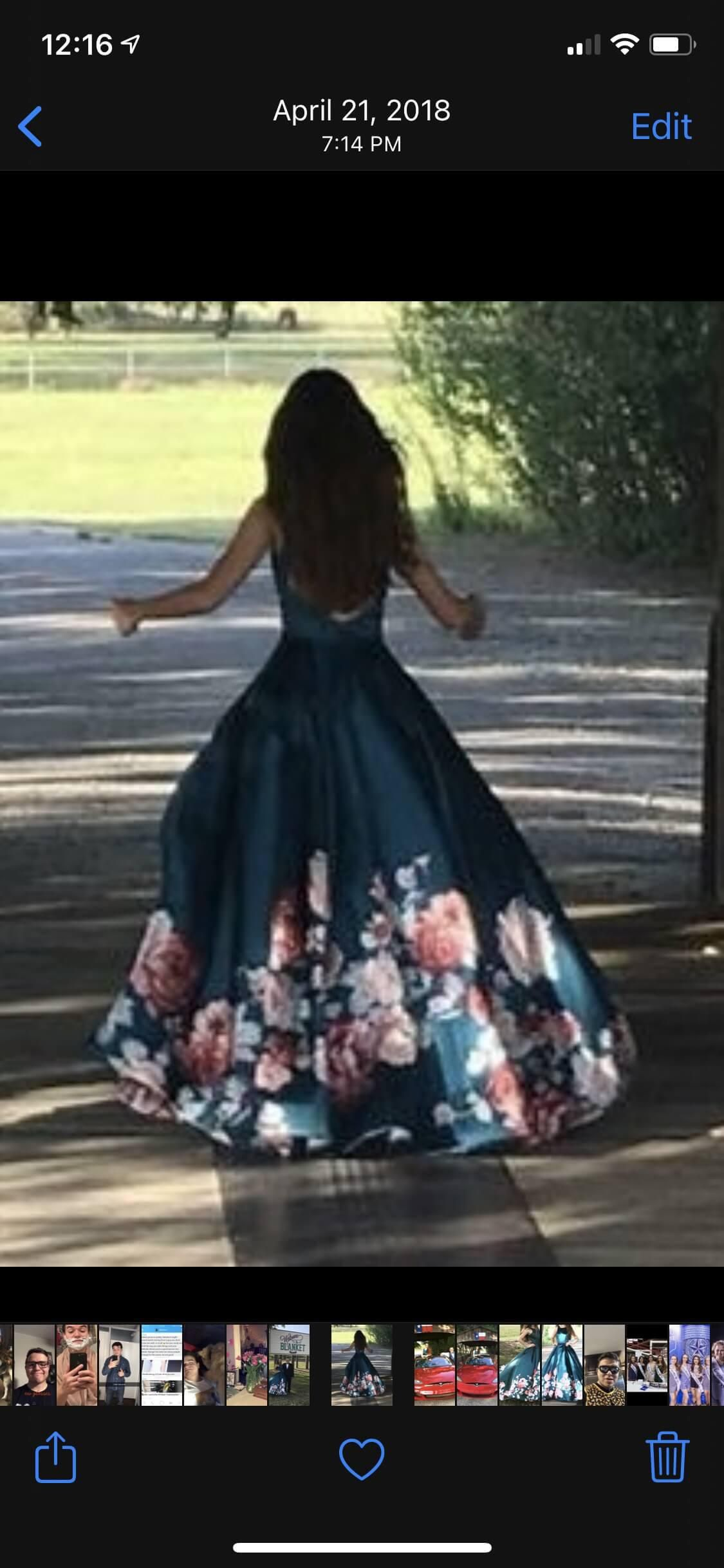 Multicolor Size 00 Ball gown on Queenly