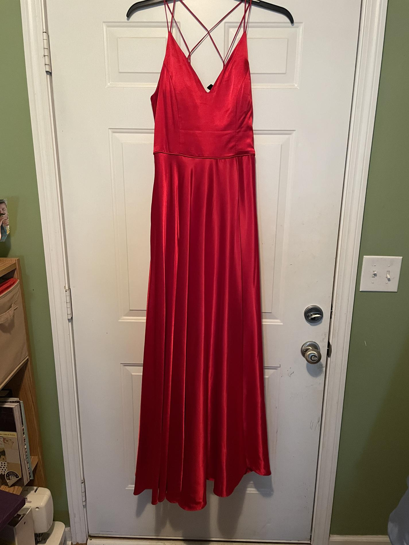 Windsor Red Size 12 Prom A-line Dress on Queenly