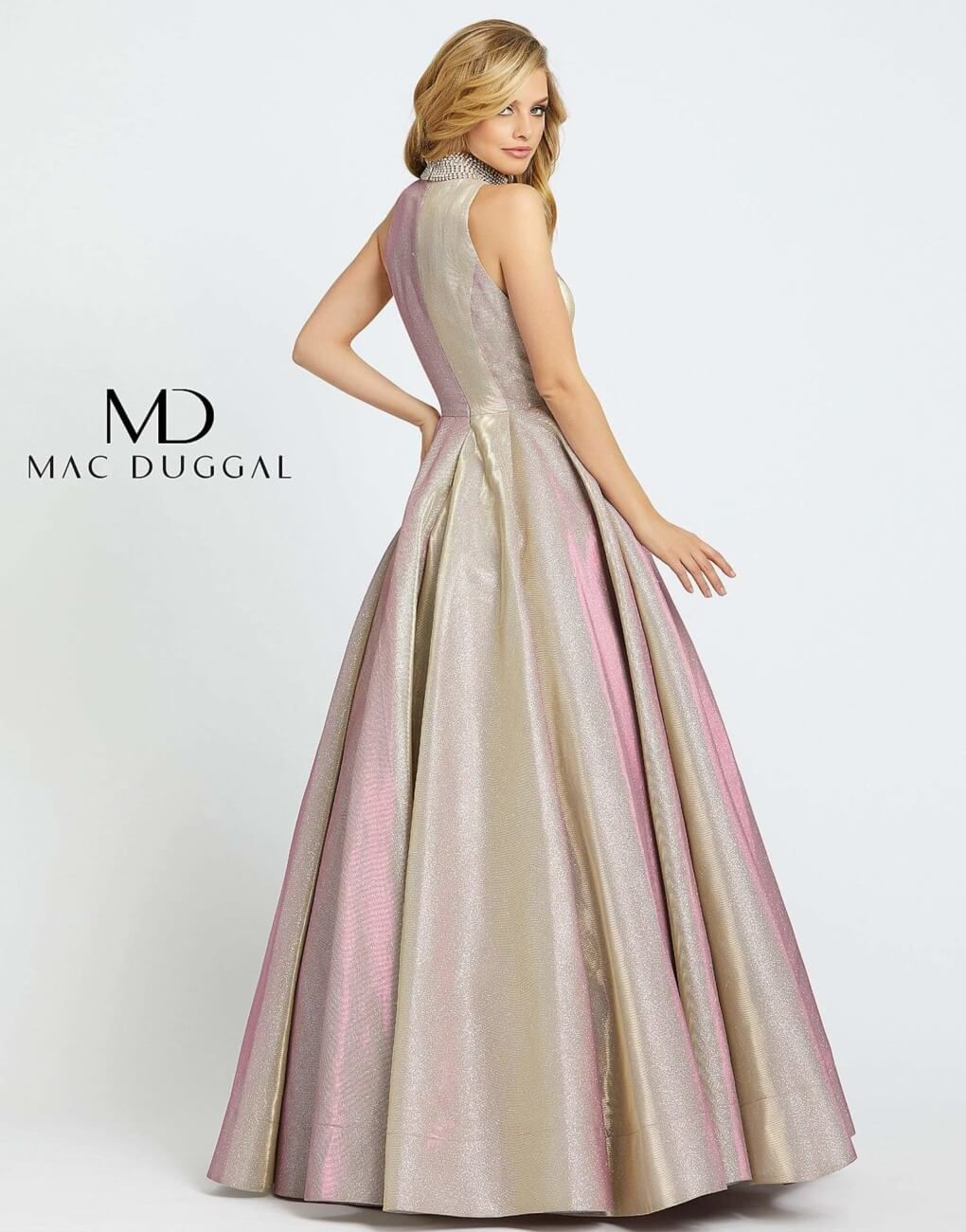 Style 25957 Mac Duggal Pink Size 8 Prom Pageant Ball gown on Queenly