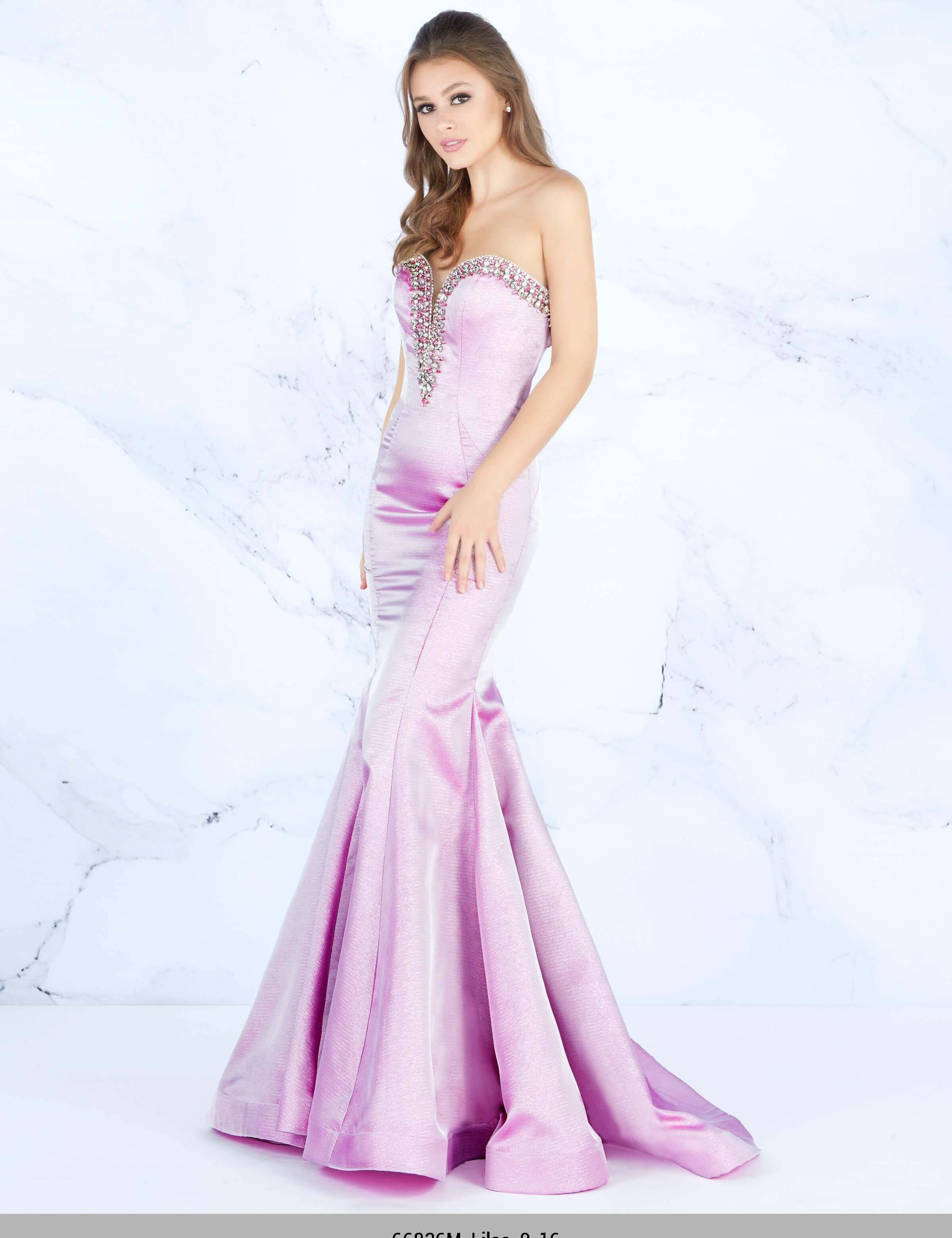 Style 66836 Mac Duggal Purple Size 8 Lavender Prom Sweetheart Mermaid Dress on Queenly