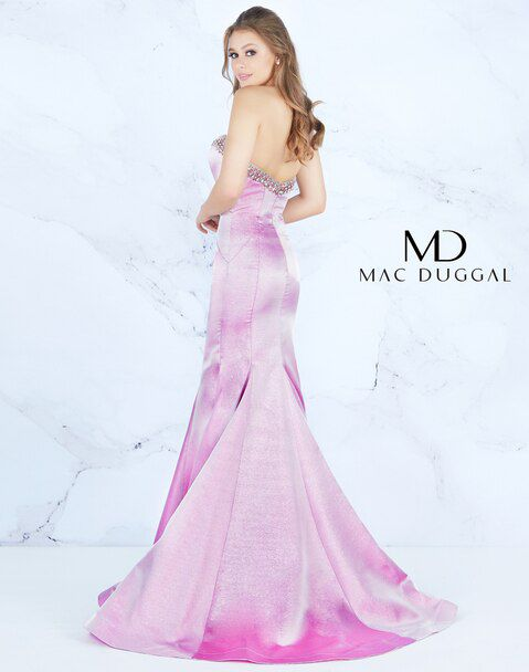 Style 66836 Mac Duggal Purple Size 16 Lavender Prom Sweetheart Mermaid Dress on Queenly