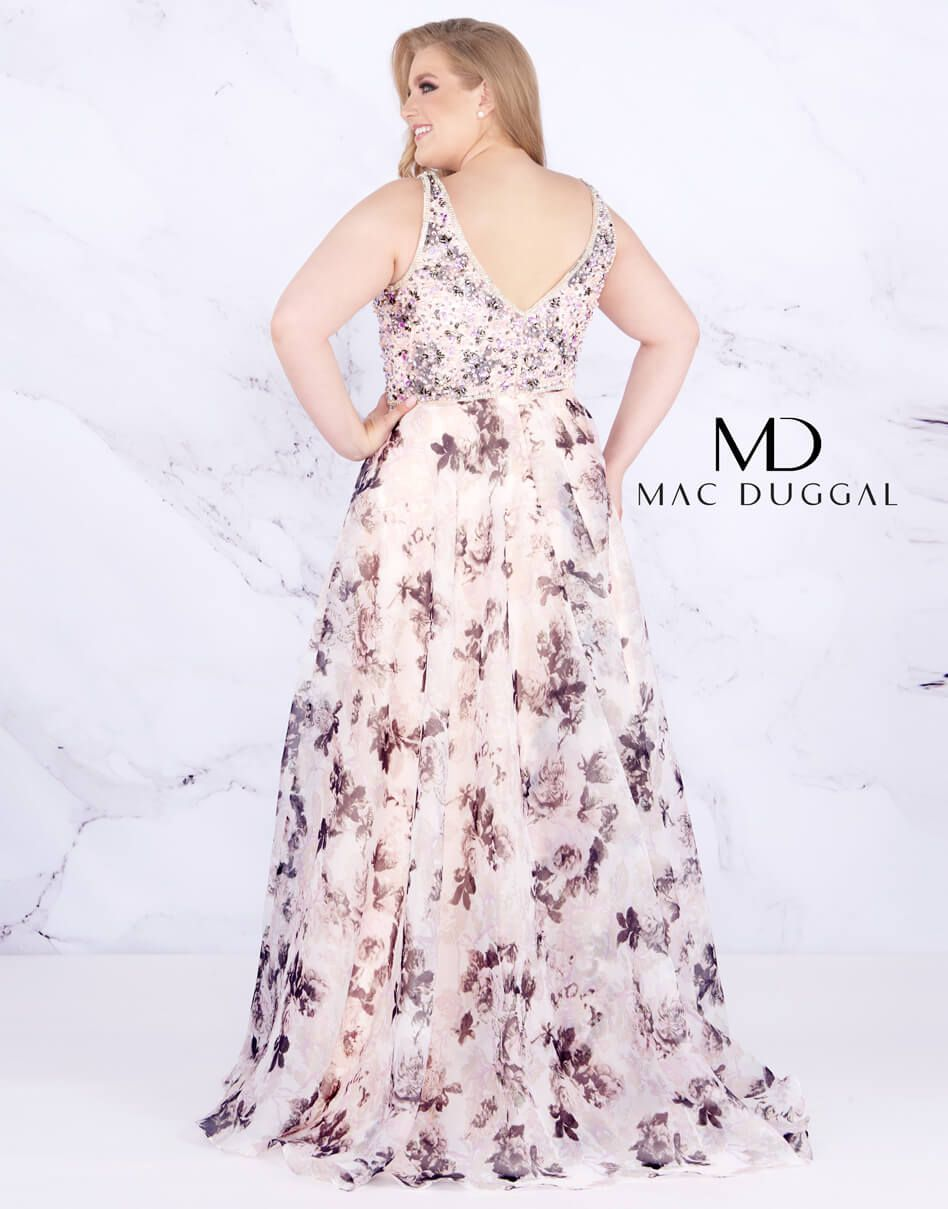 Style 77542 Mac Duggal Pink Size 14 Prom V Neck A-line Dress on Queenly