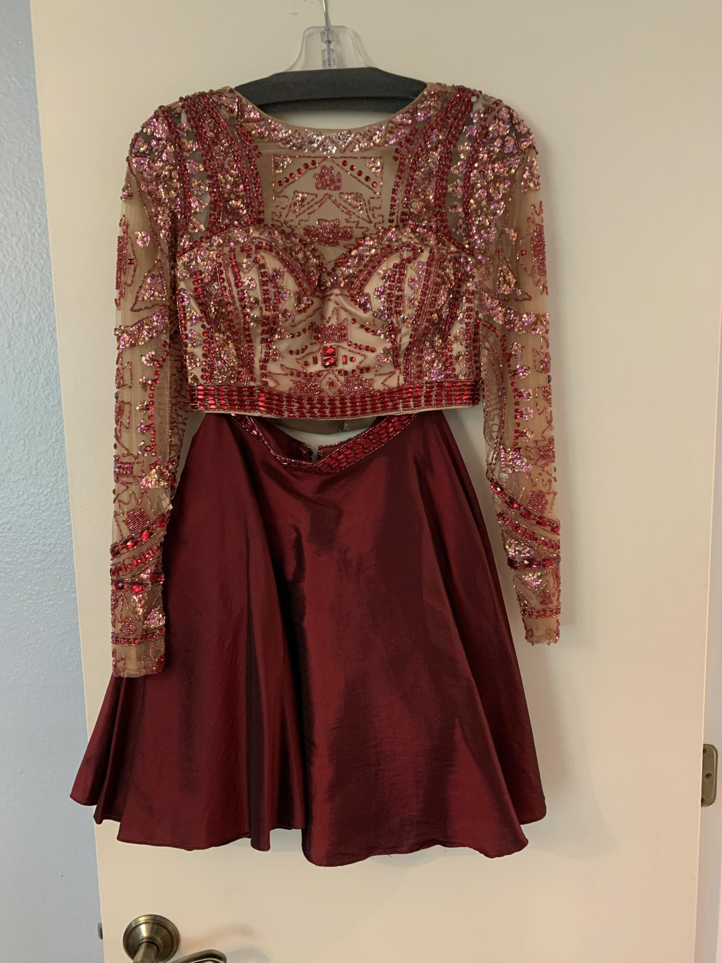 Sherri Hill Red Size 4 Sleeves Homecoming Cocktail Dress on Queenly