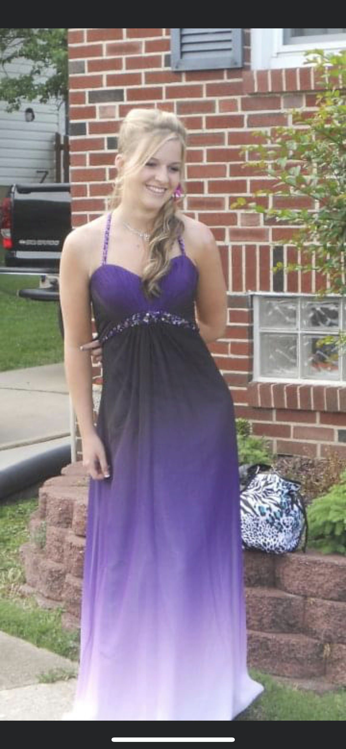 Jessica McClintock Purple Size 0 Ombre Straight Dress on Queenly