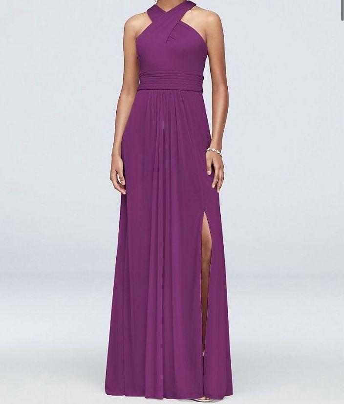 Purple Size 22 Side slit Dress on Queenly