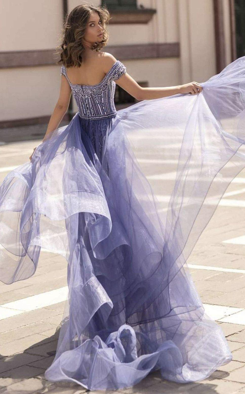 Tarik Ediz Light Purple Size 4 Cap Sleeve Side slit Dress on Queenly