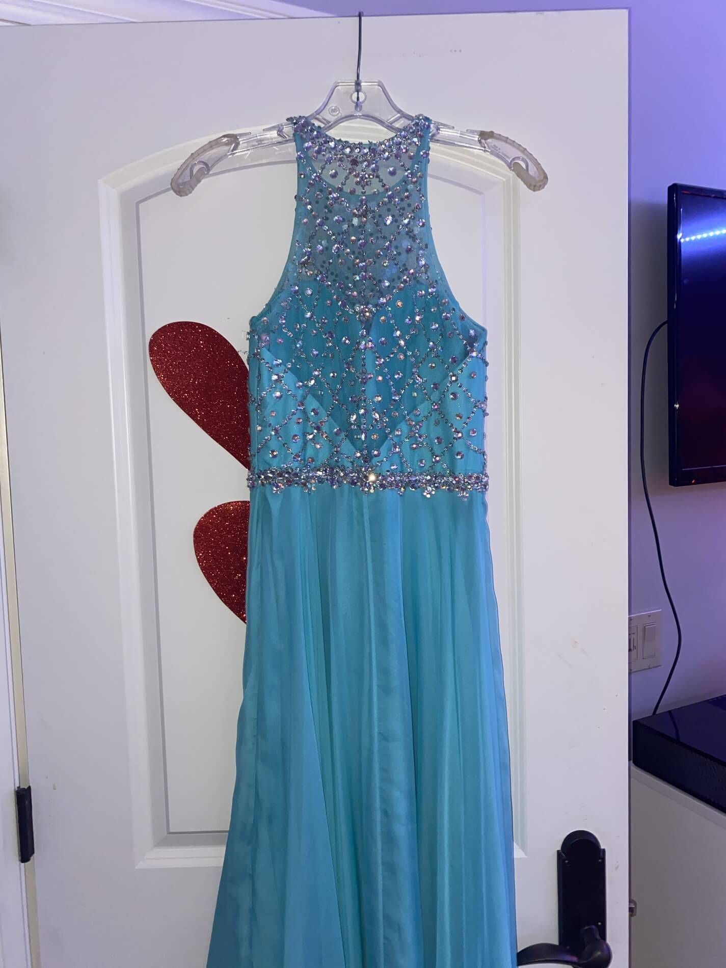 Blush Blue Size 0 Tall Height Straight Dress on Queenly
