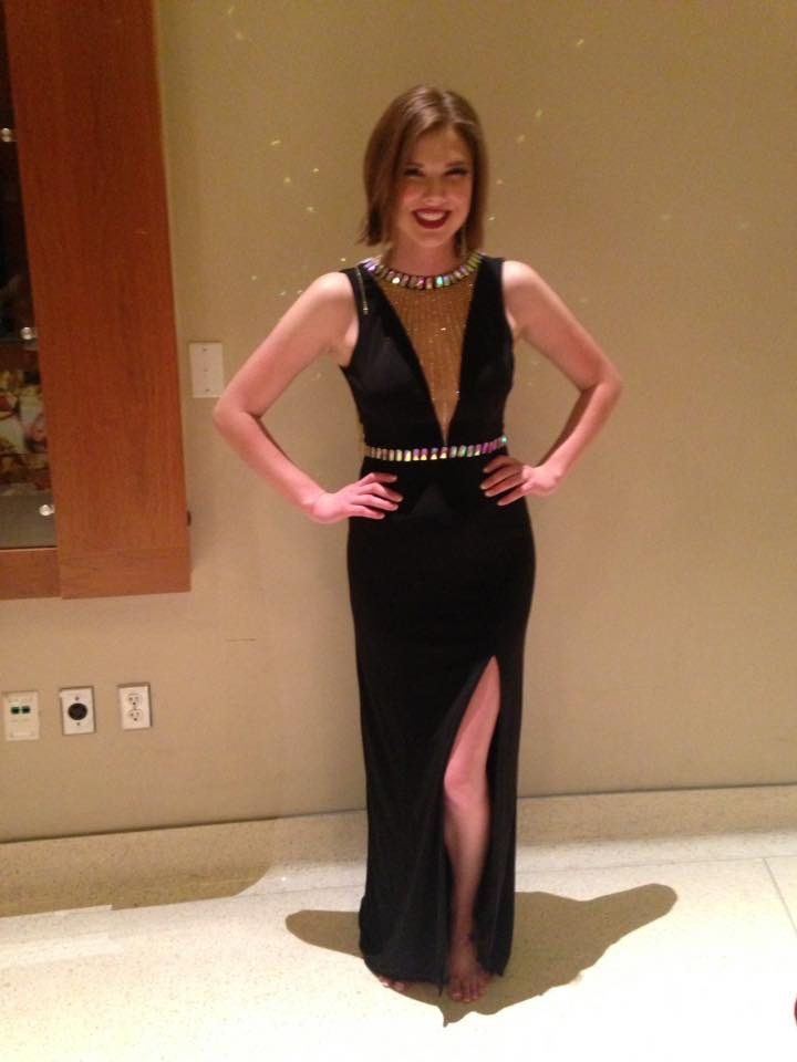 Johnathan Kayne Black Size 4 Jewelled Custom Straight Dress on Queenly
