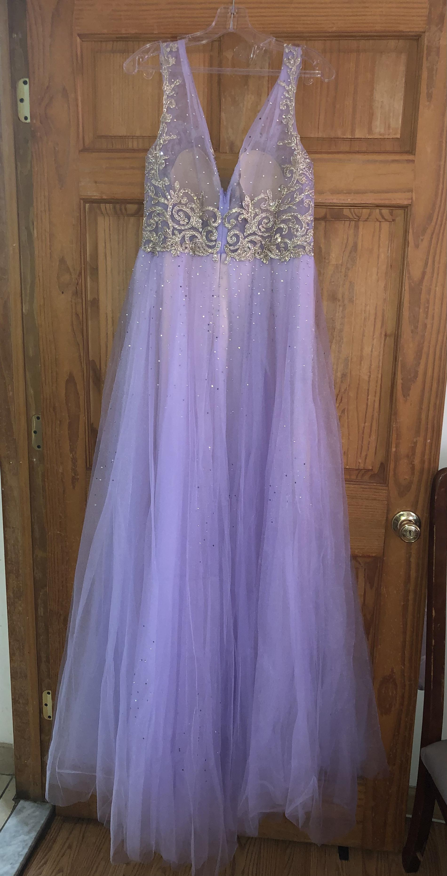 Purple Size 10 A-line Dress on Queenly