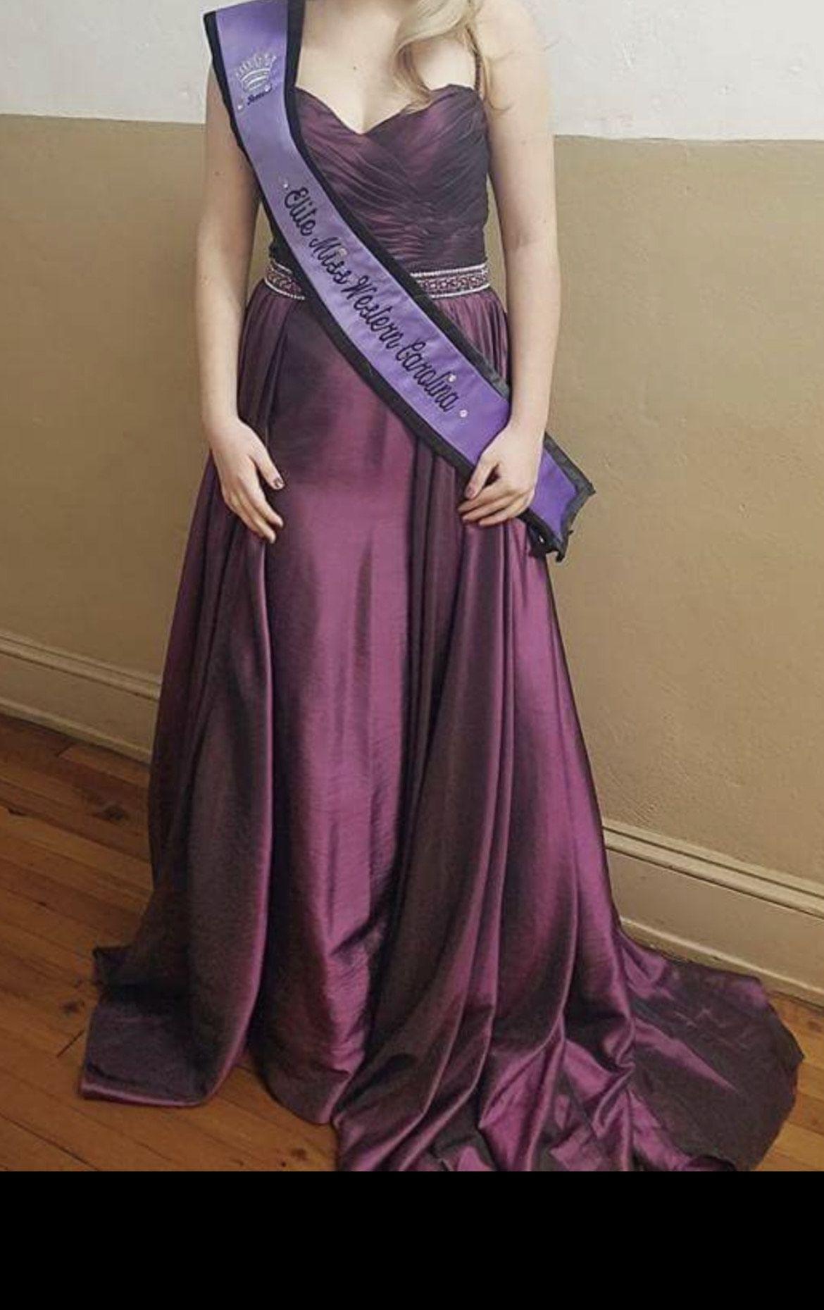 Jovani Purple Size 6 Custom Train Dress on Queenly