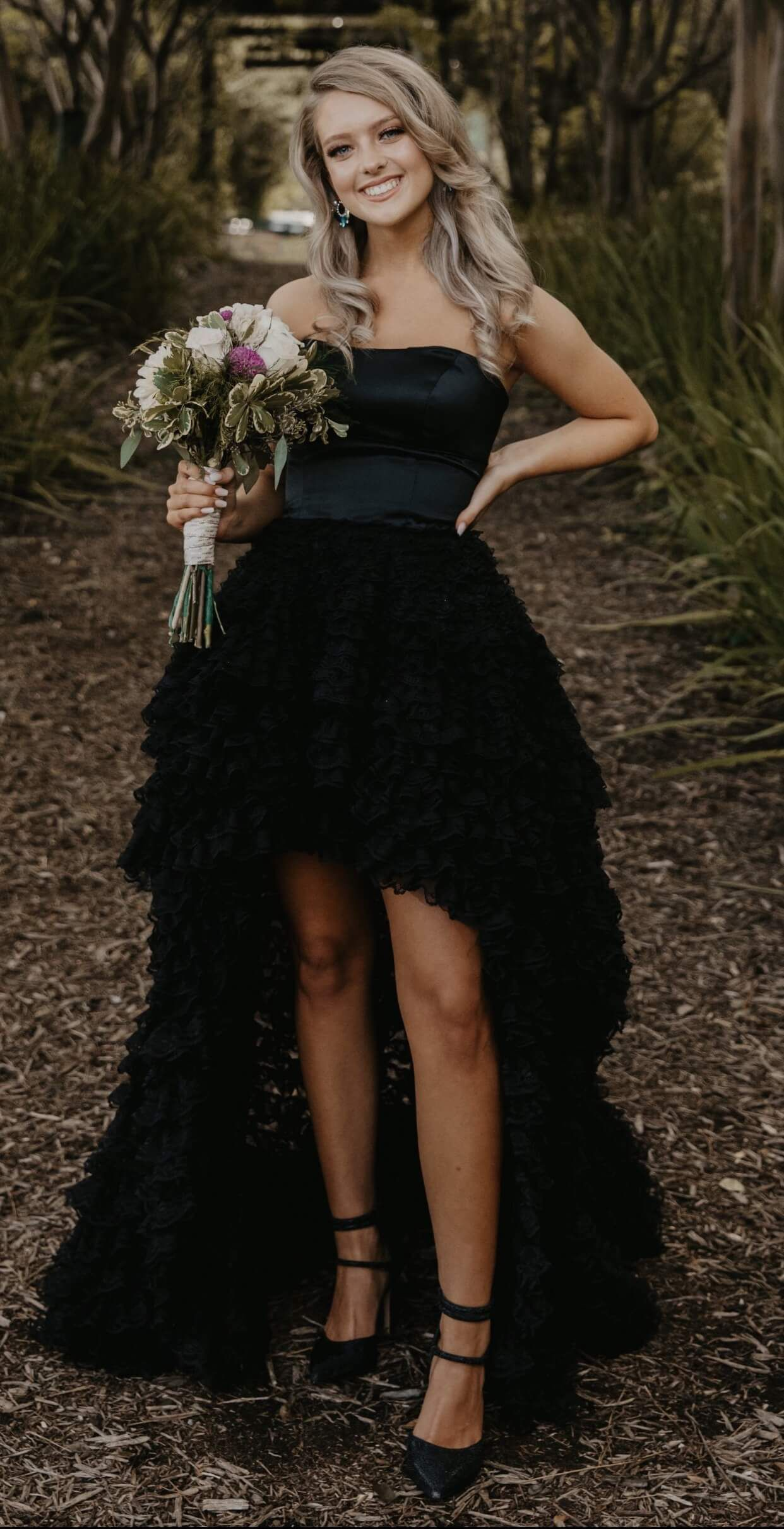 Sherri Hill Black Size 2 Homecoming Strapless High Low Train Dress on Queenly