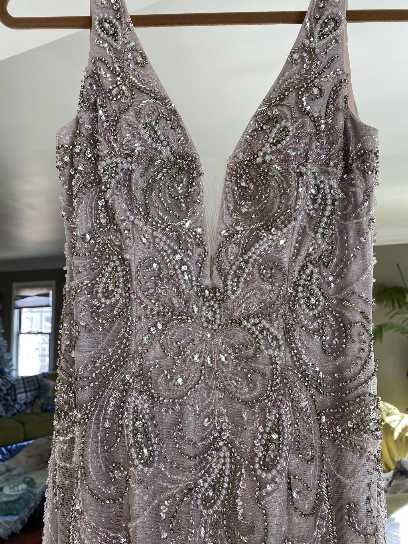 Purple Size 8 Mermaid Dress on Queenly