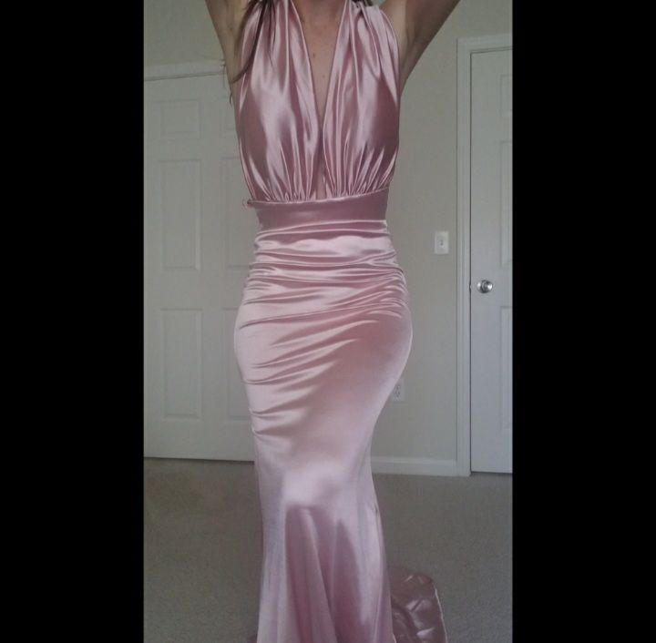 Portia & Scarlett Pink Size 2 Party Bodycon Train Dress on Queenly