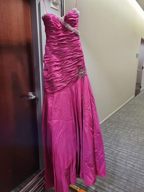Style 8106 Mori Lee Pink Size 4 Sweetheart Tall Height Mermaid Dress on Queenly