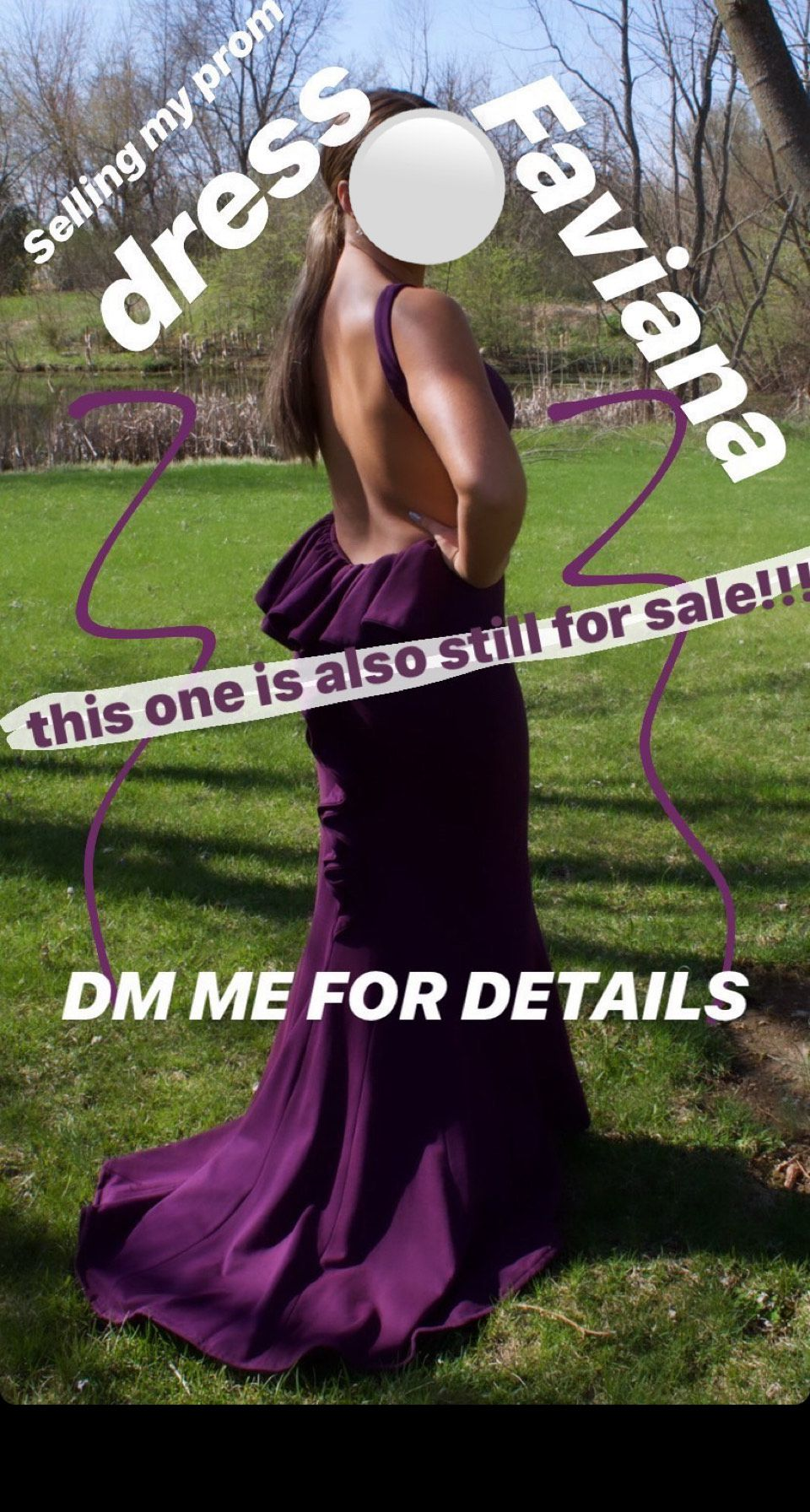 Faviana Purple Size 4 Prom Backless Straight Dress on Queenly