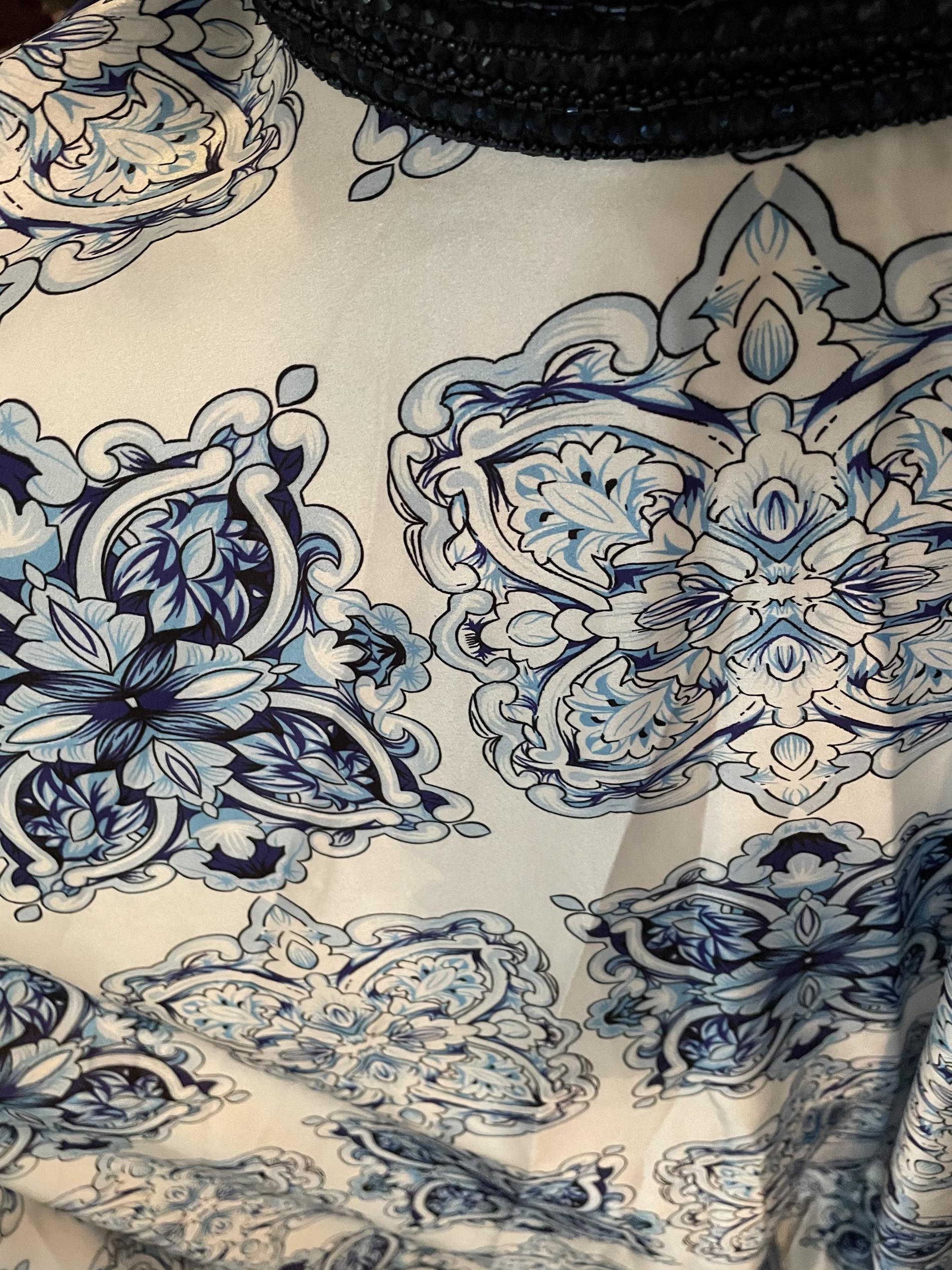 Camille La Vie Blue Size 4 Floral Train Dress on Queenly