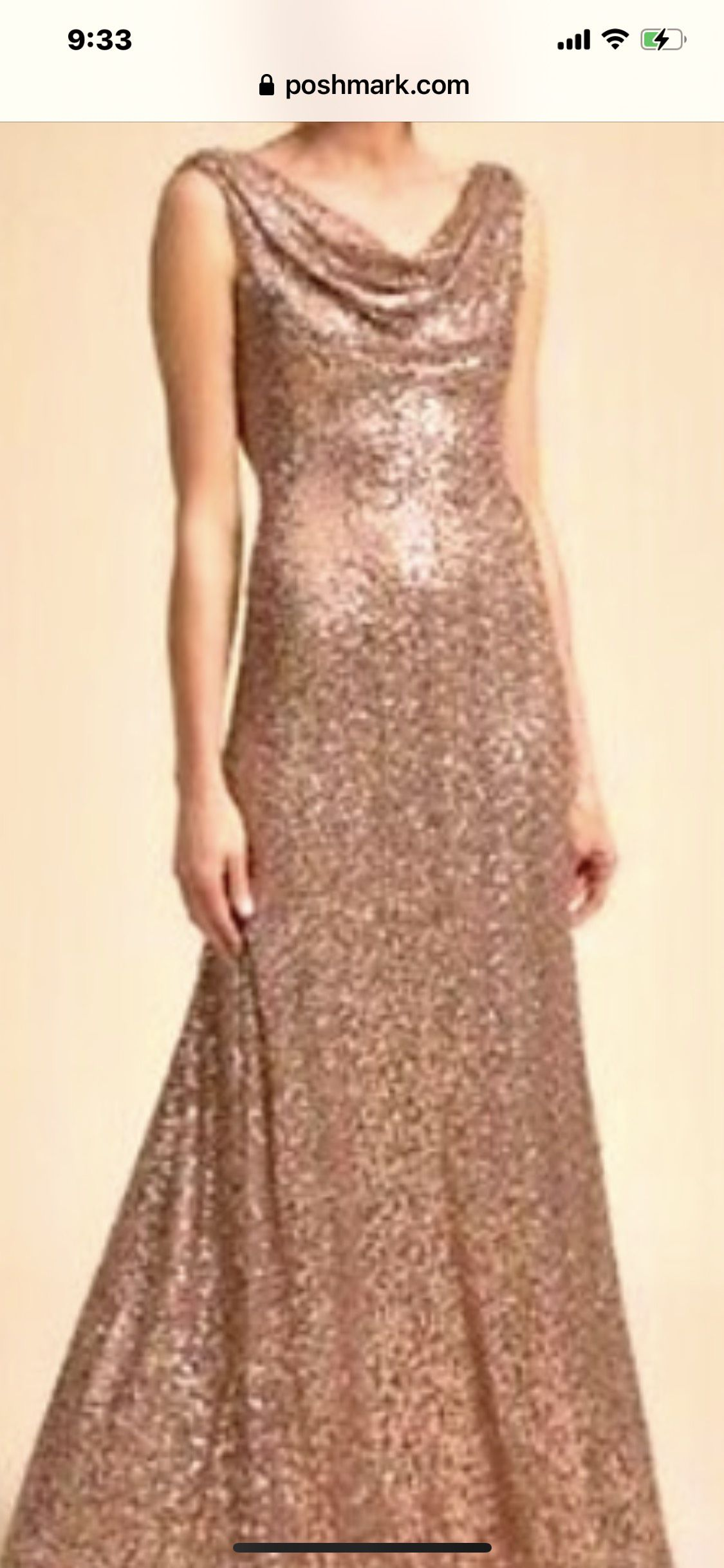 Cachet Gold Size 8 Straight Dress on Queenly