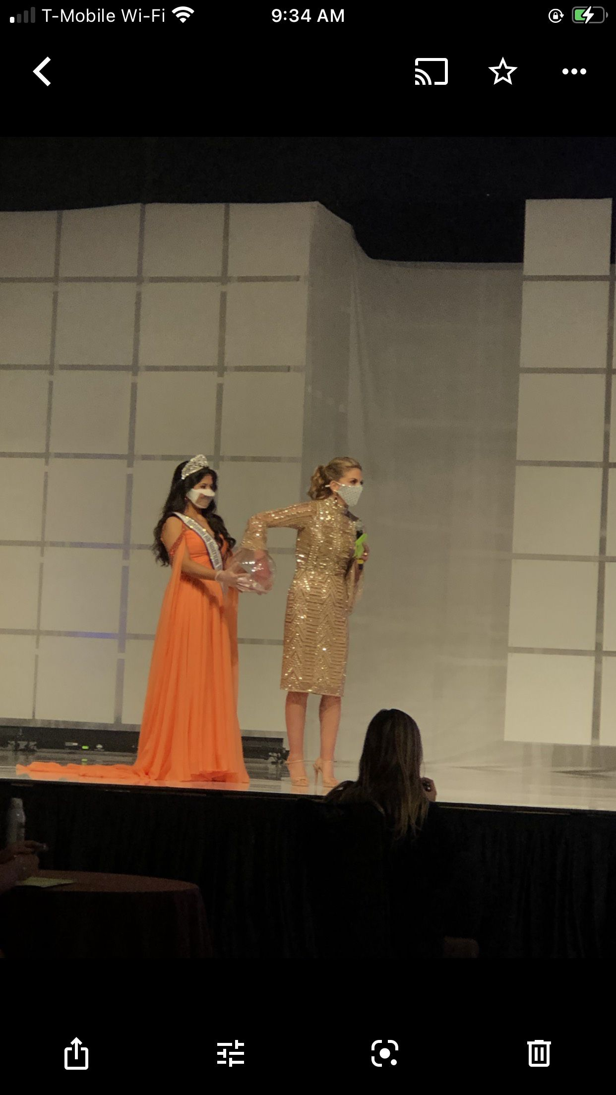 Sherri Hill Orange Size 4 Pageant Cape A-line Dress on Queenly