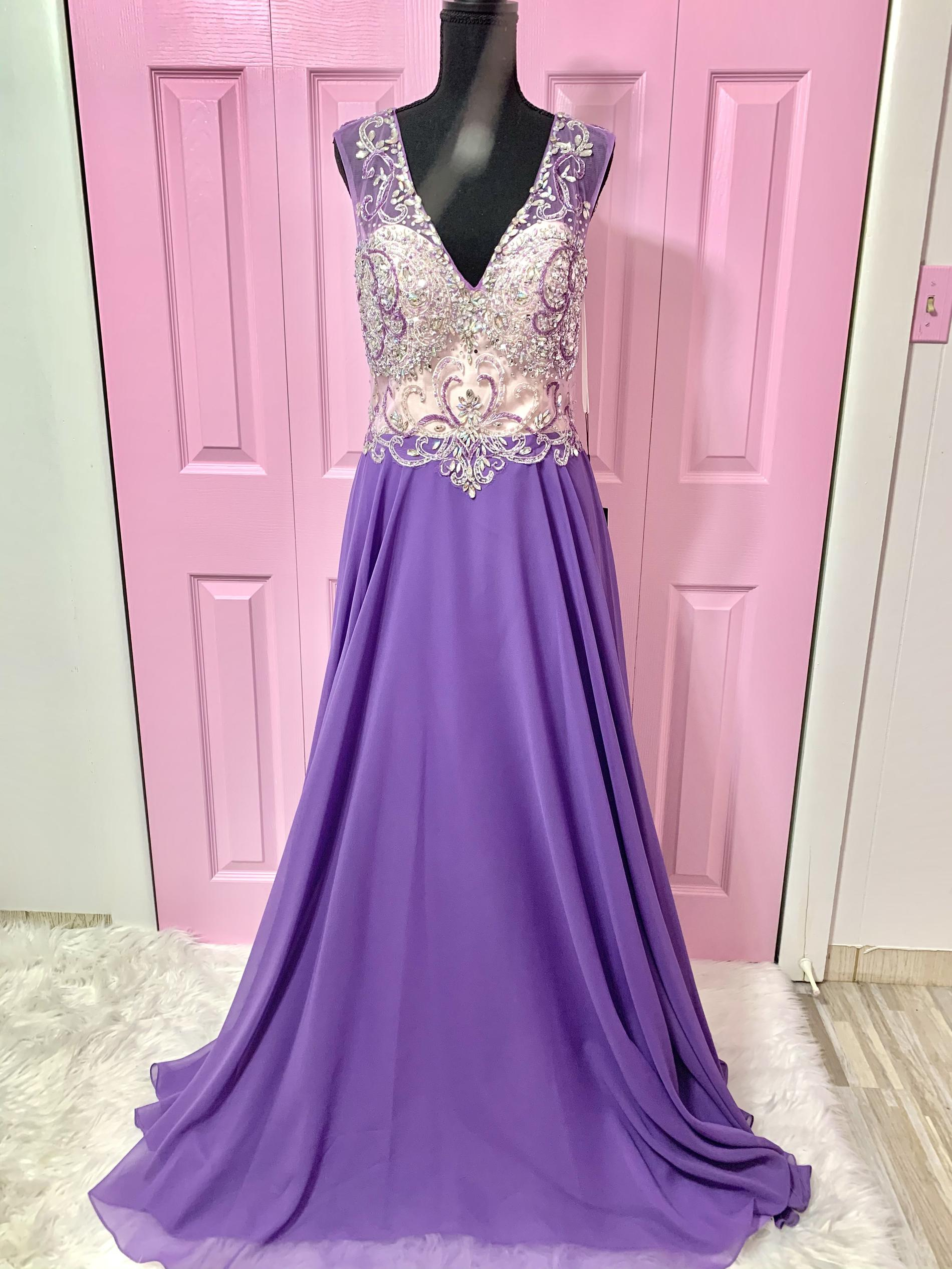 Alyce Paris Purple Size 10 Pageant Backless Straight Dress on Queenly