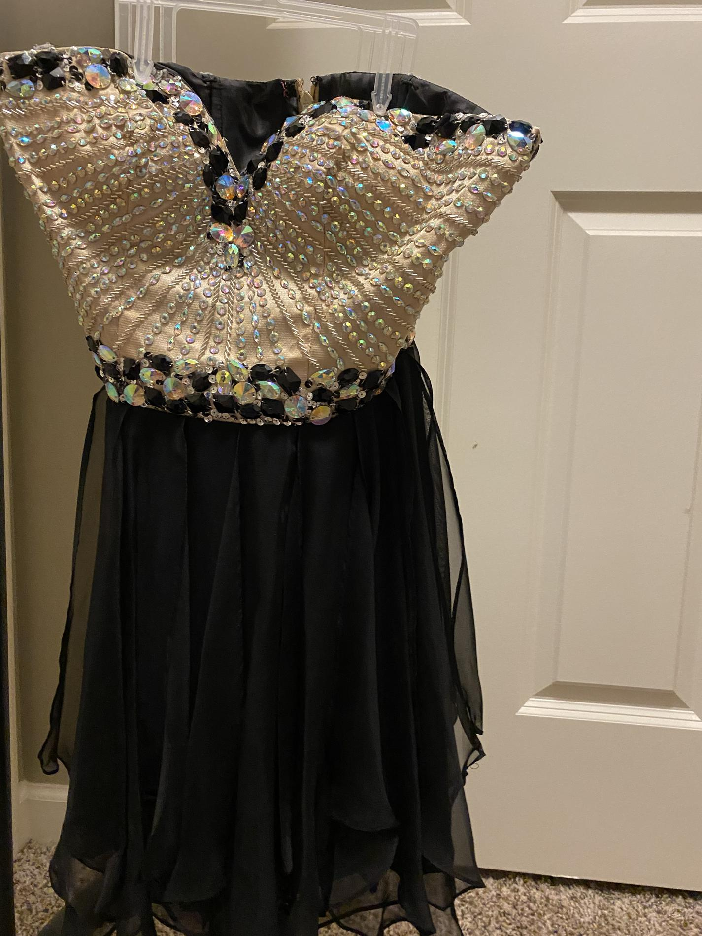 Sherri Hill Black Size 00 Jewelled Homecoming Flare Cocktail Dress on Queenly