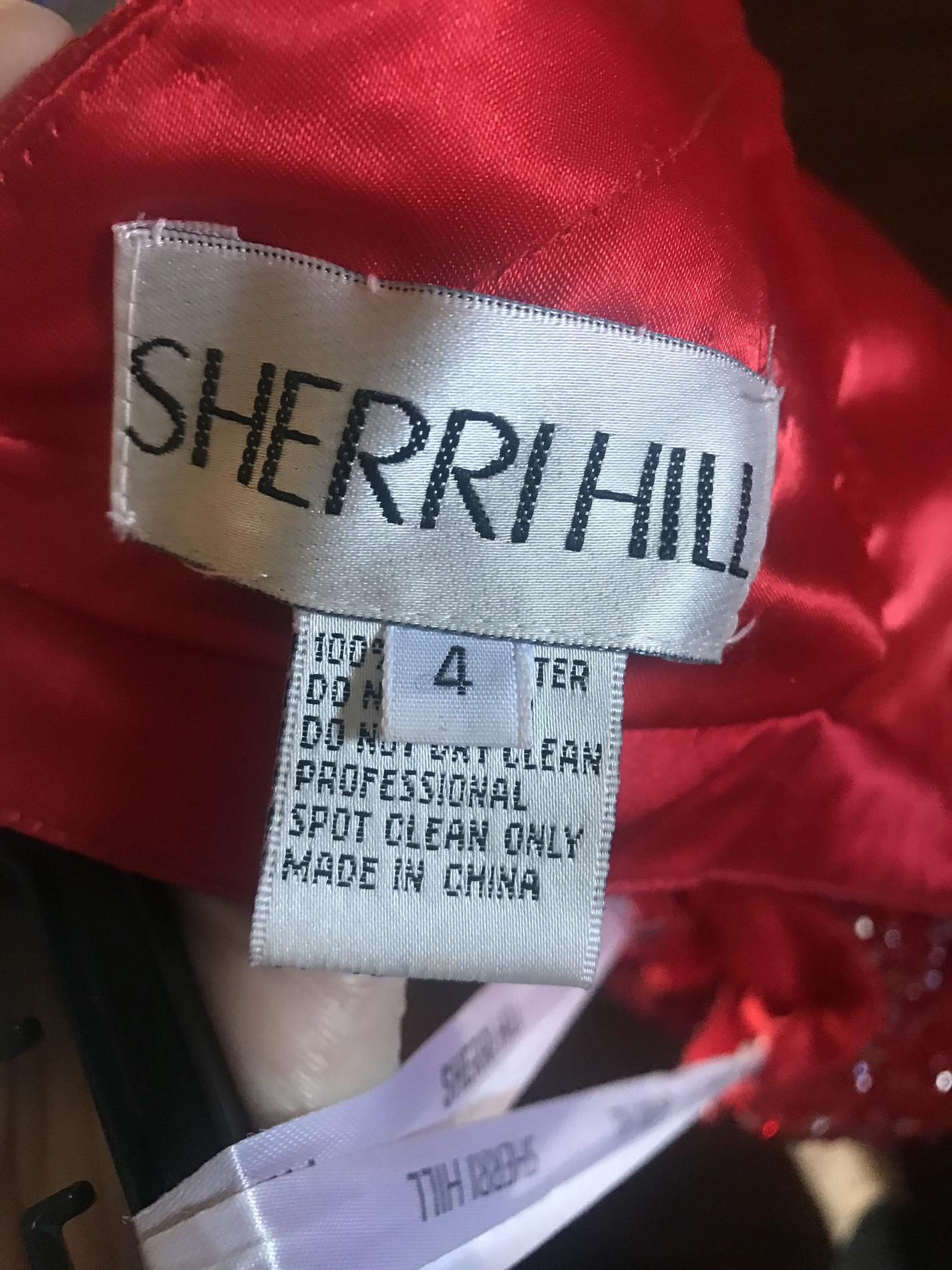 Sherri Hill Red Size 4 Straight Dress on Queenly
