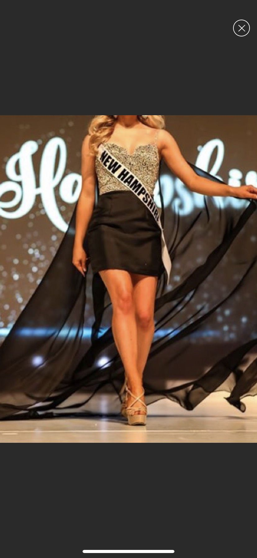 Mac Duggal Black Size 0 Beaded Top Pageant Cocktail Dress on Queenly