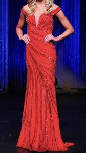 Gaspar Cruz Red Size 4 Sweetheart Train Straight Dress on Queenly