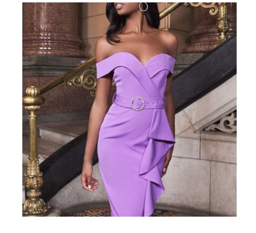 Lavish Alice Purple Size 2 Wedding Guest Interview Cocktail Dress on Queenly